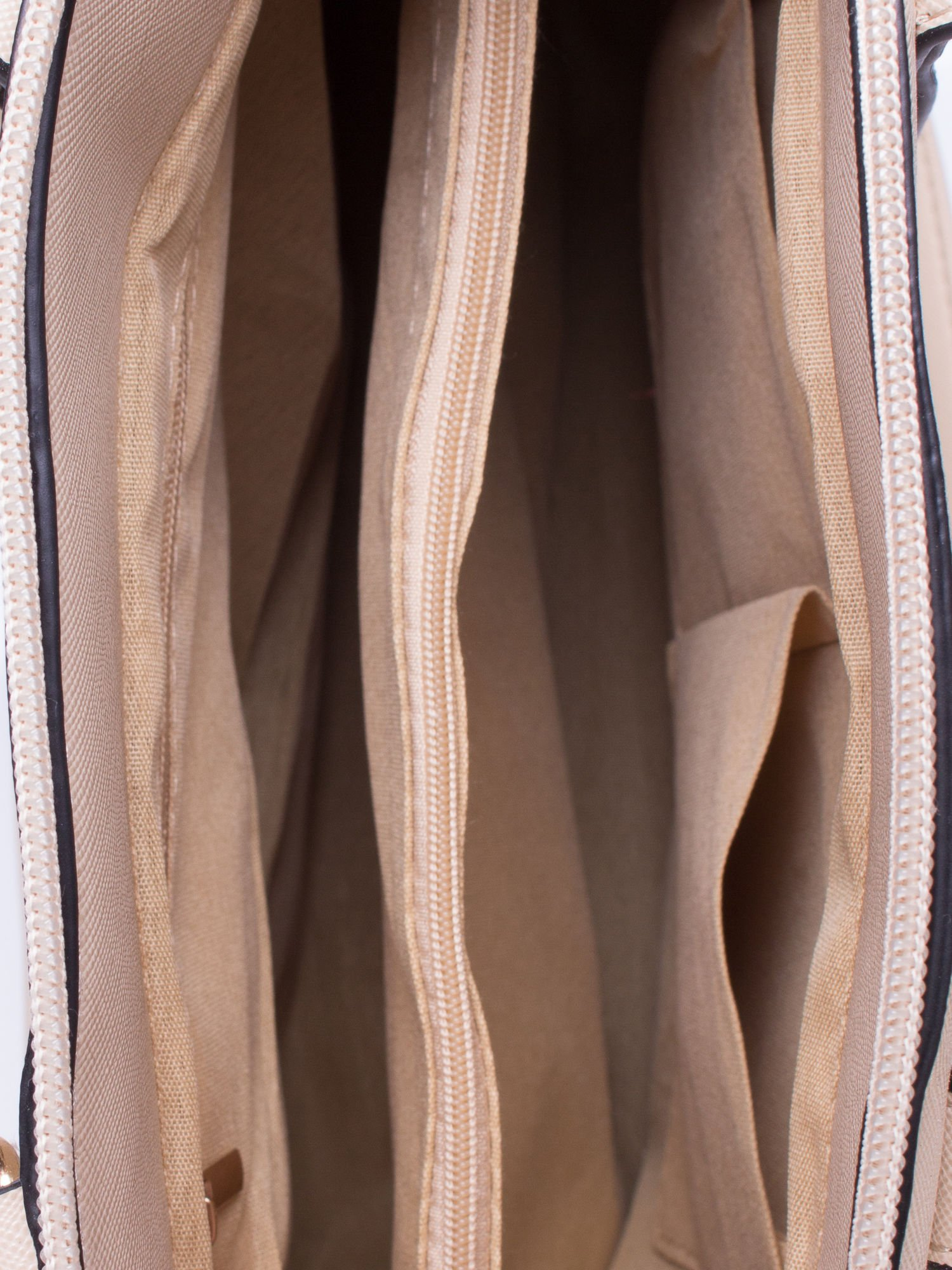 Beżowa torba na ramię z ozdobnymi detalami                                   zdj.                                  4