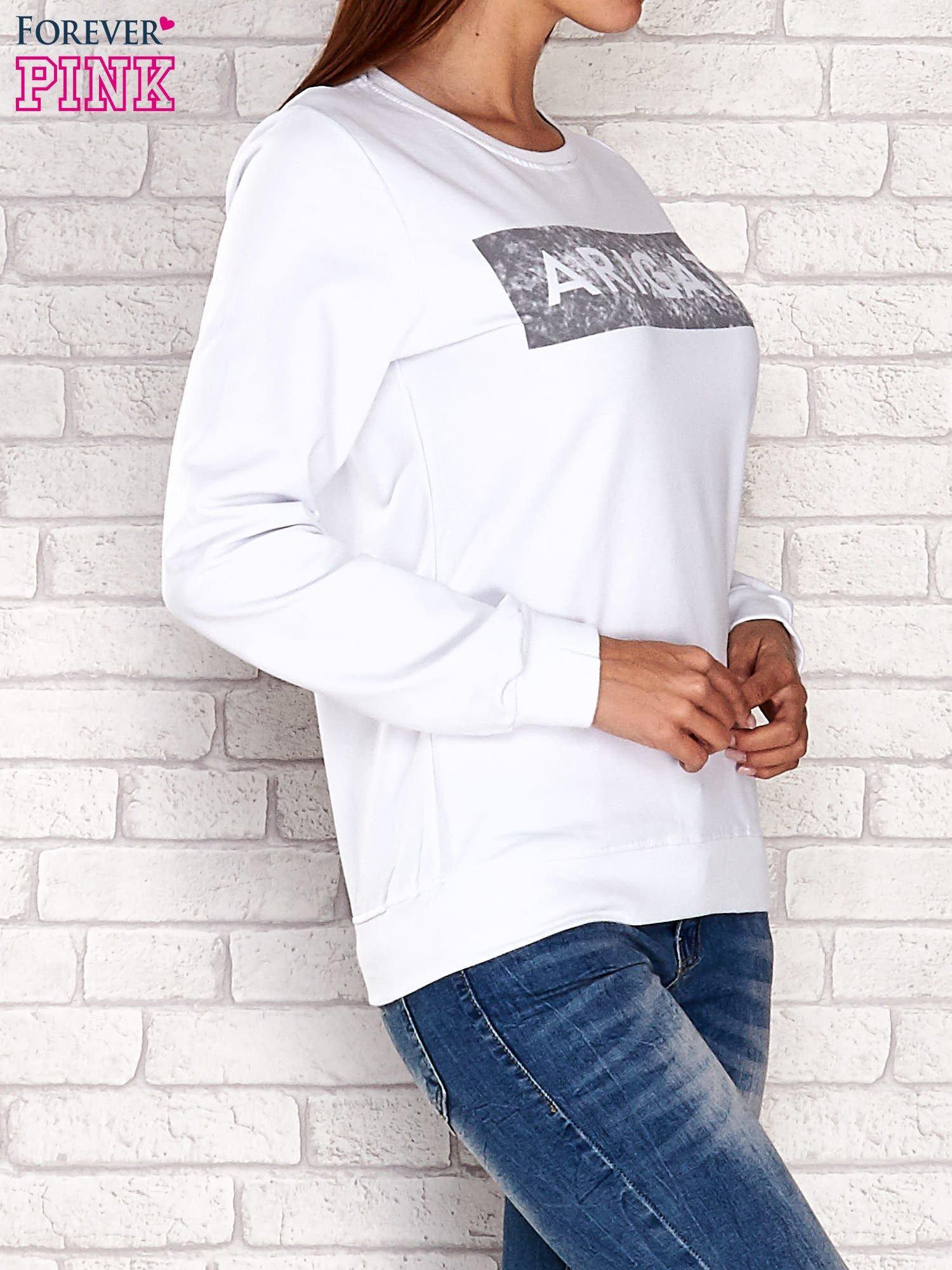 Biała bluza z napisem ARIGATO                                  zdj.                                  4