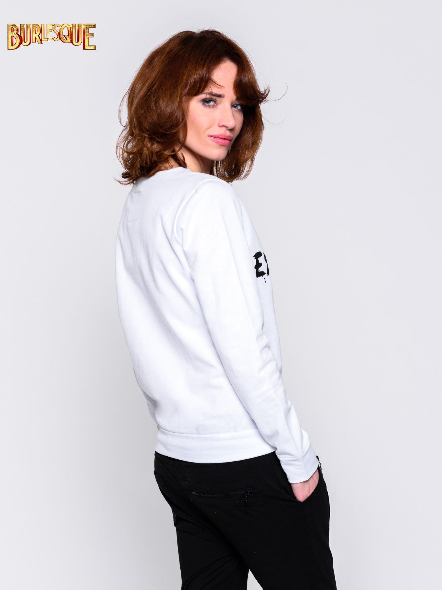 Biała klasyczna bluza damska z napisem EXTRÉME UNIQUE                                  zdj.                                  2