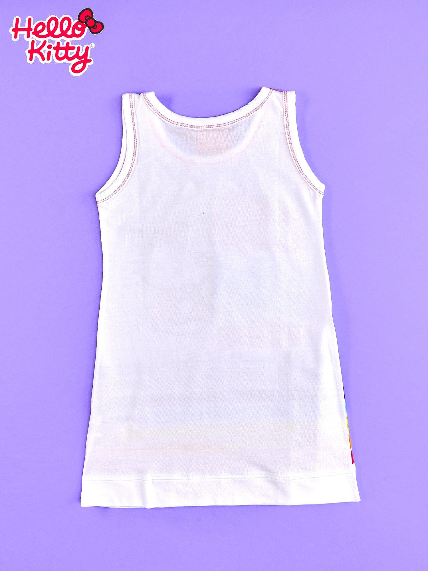 Biała sukienka bez rękawów dla dziewczynki HELLO KITTY                                  zdj.                                  2
