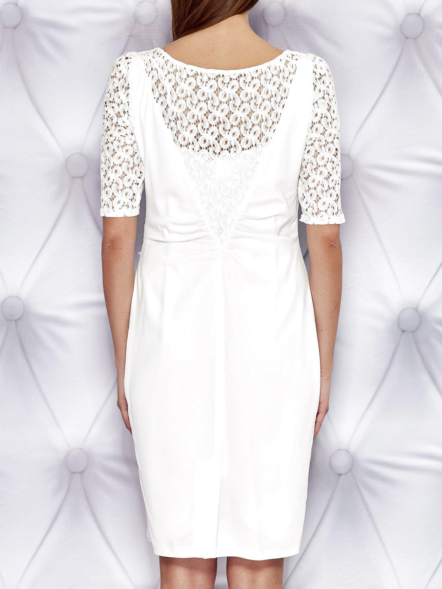 845bc775 Biała sukienka z koronką