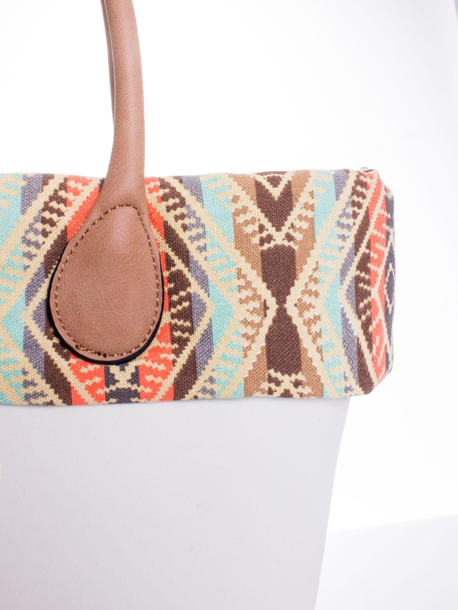 Biała torba gumowa z motywem azteckim                                  zdj.                                  5