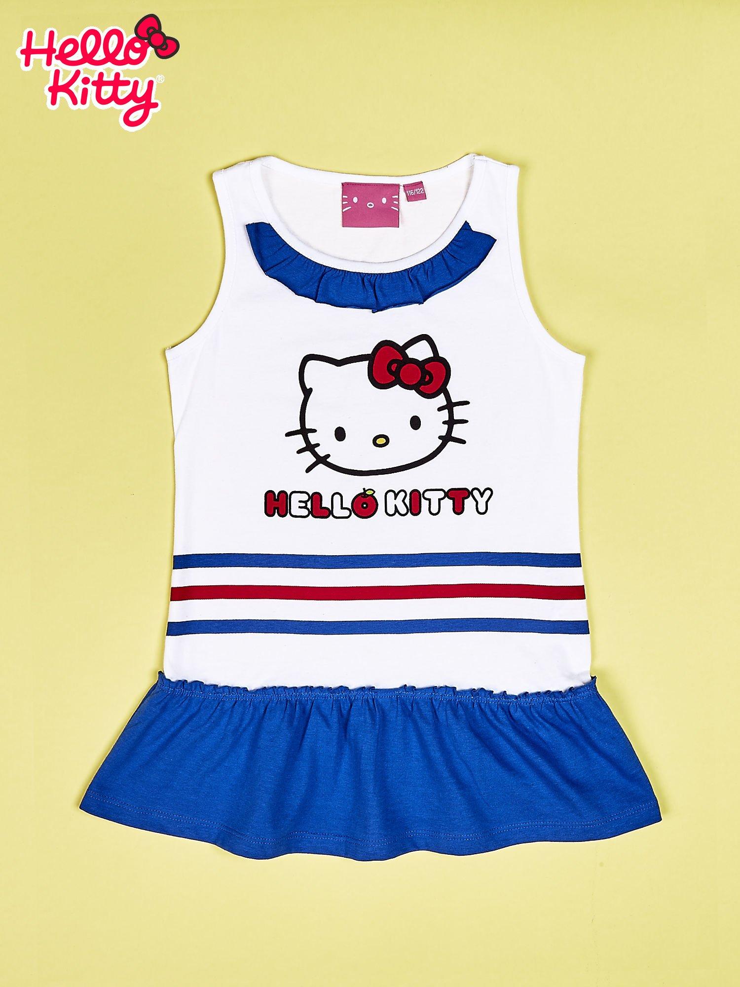 Biała tunika dla dziewczynki HELLO KITTY                                  zdj.                                  1