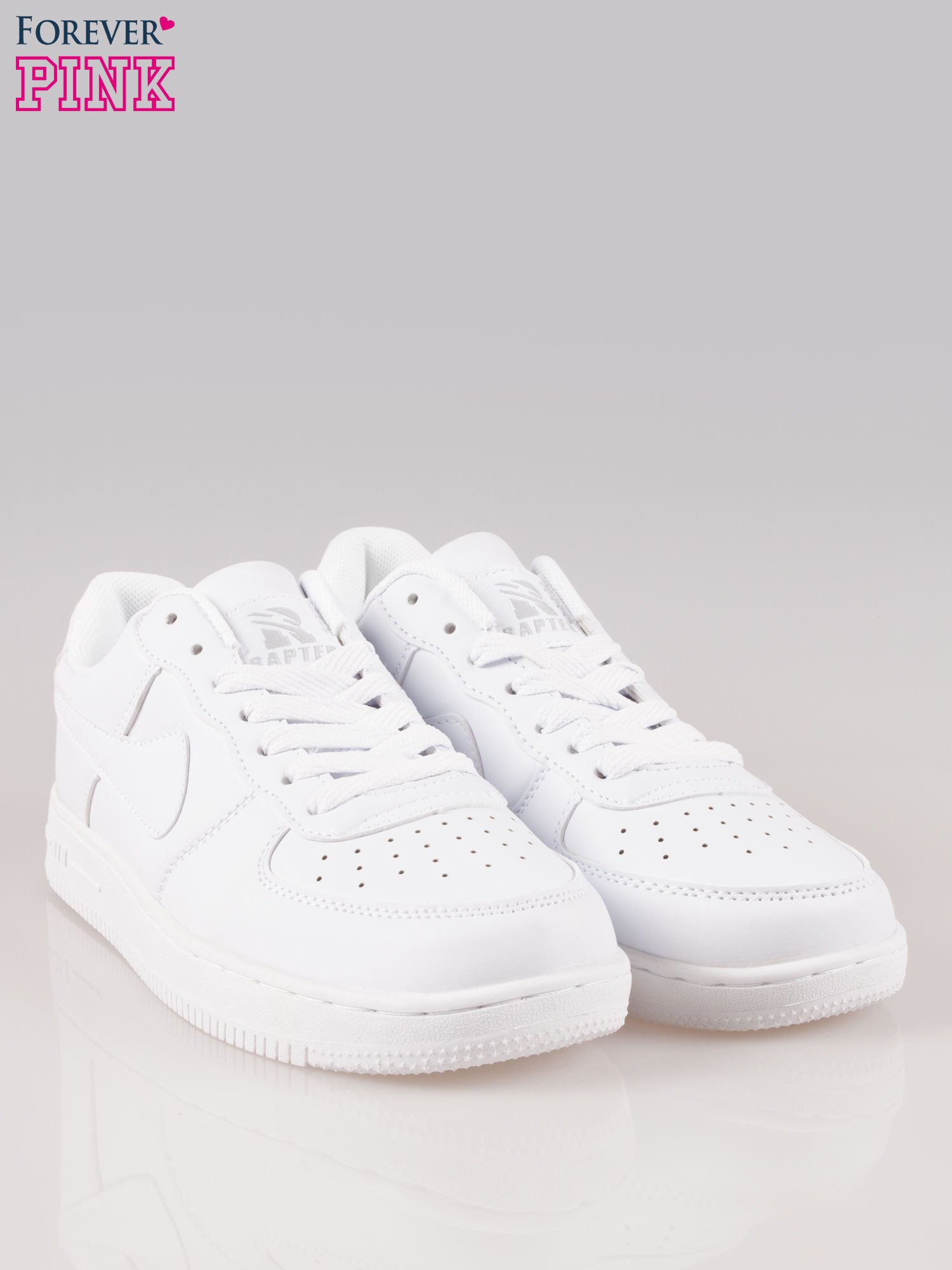 Białe buty sportowe na grubej podeszwie                                  zdj.                                  2