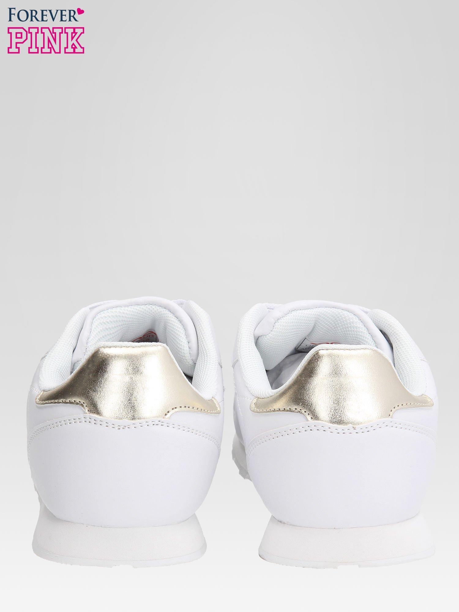 Białe buty sportowe ze złotym zapiętkiem                                  zdj.                                  3