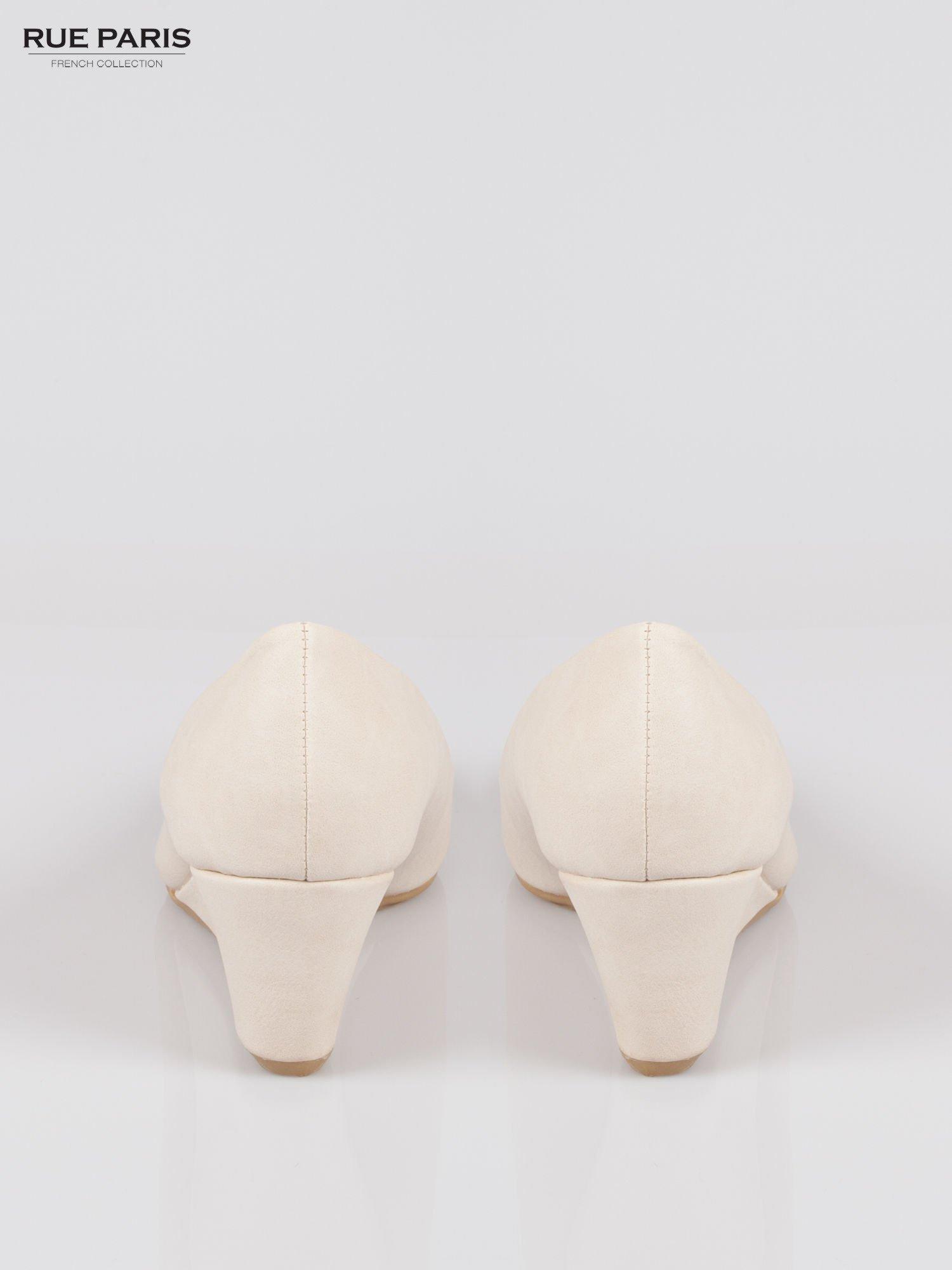 Białe koturny damskie ze skóry ekologicznej                                  zdj.                                  3