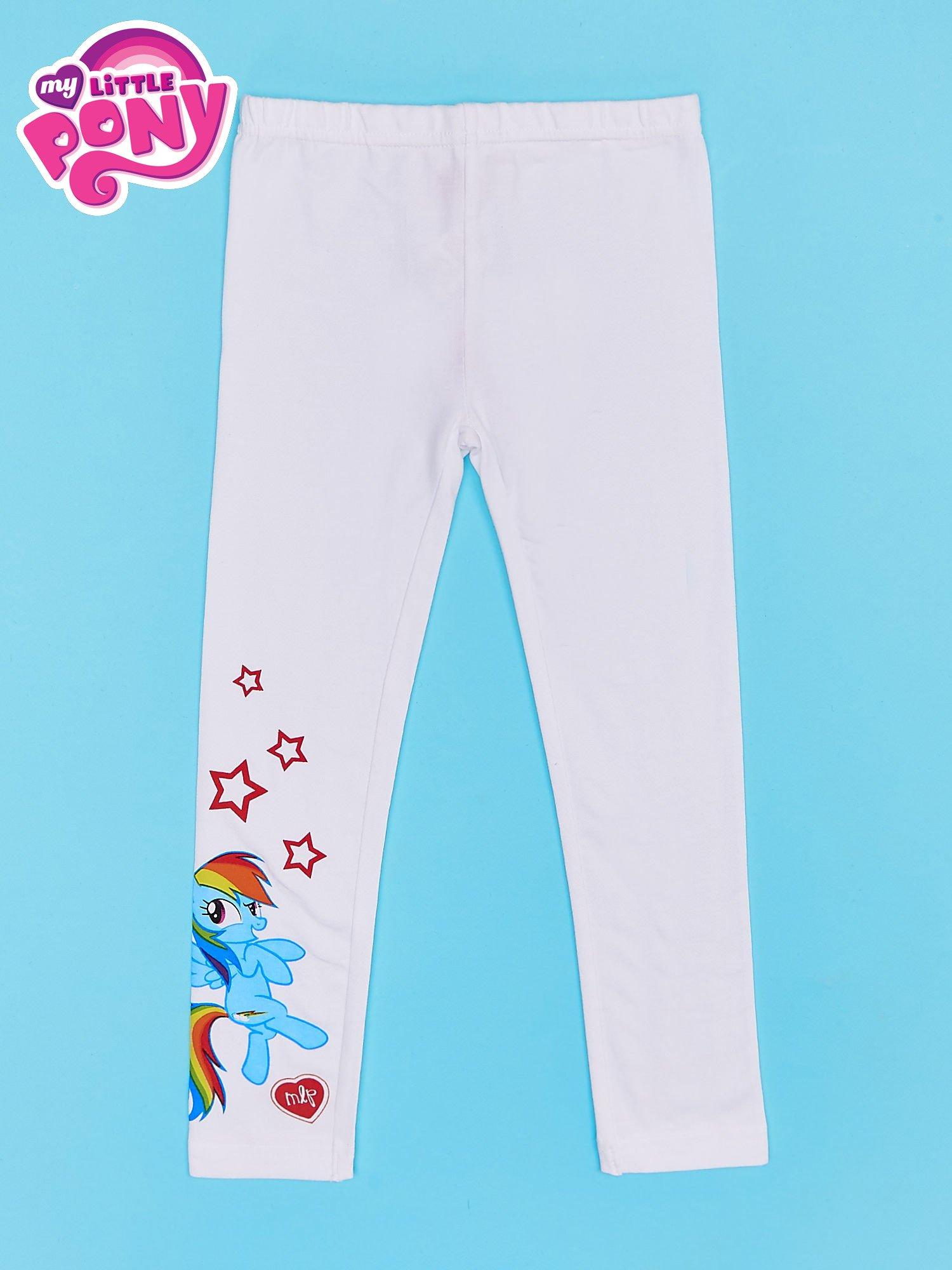 Białe legginsy dla dziewczynki z nadrukiem MY LITTLE PONY                                  zdj.                                  1