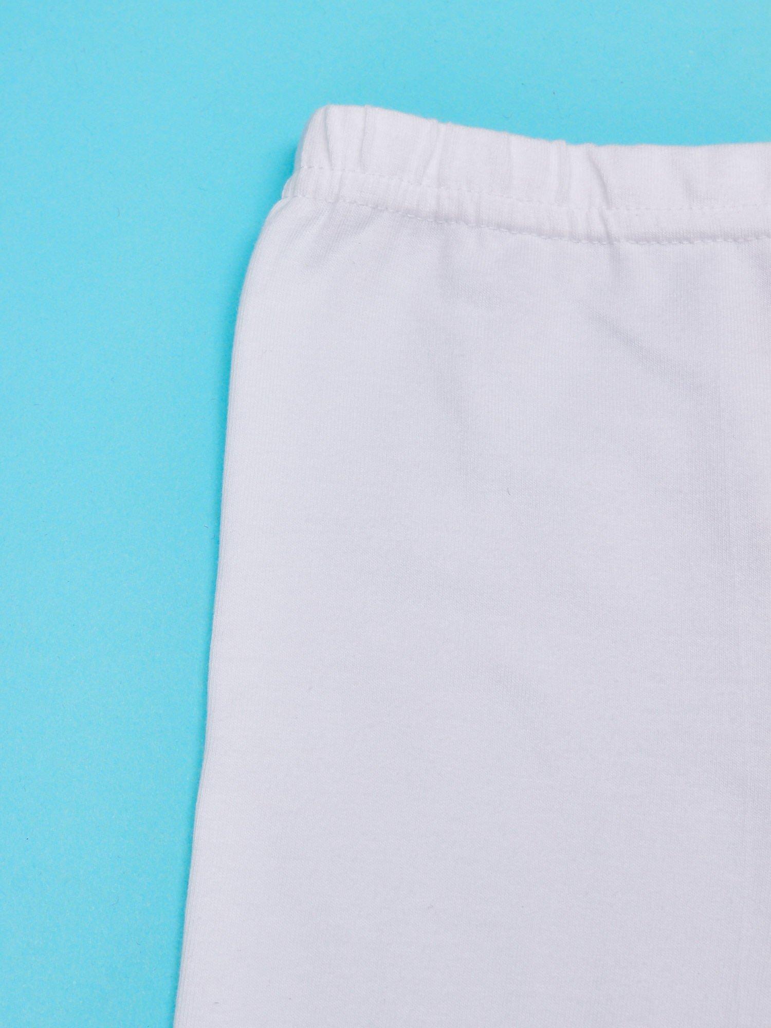Białe legginsy dla dziewczynki z nadrukiem MY LITTLE PONY                                  zdj.                                  3