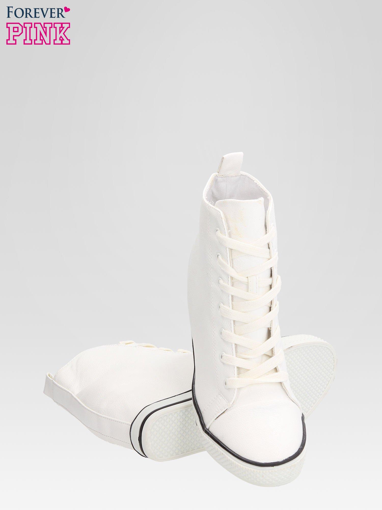 Białe skórzane sneakersy damskie                                  zdj.                                  4