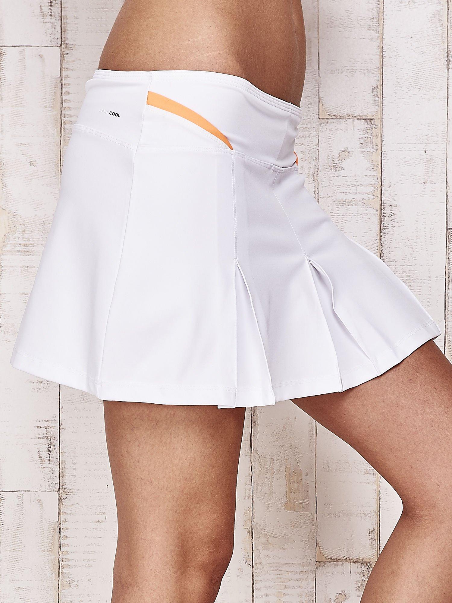 Białe spodenki spódniczka tenisowa z pomarańczowymi wstawkami                                  zdj.                                  5