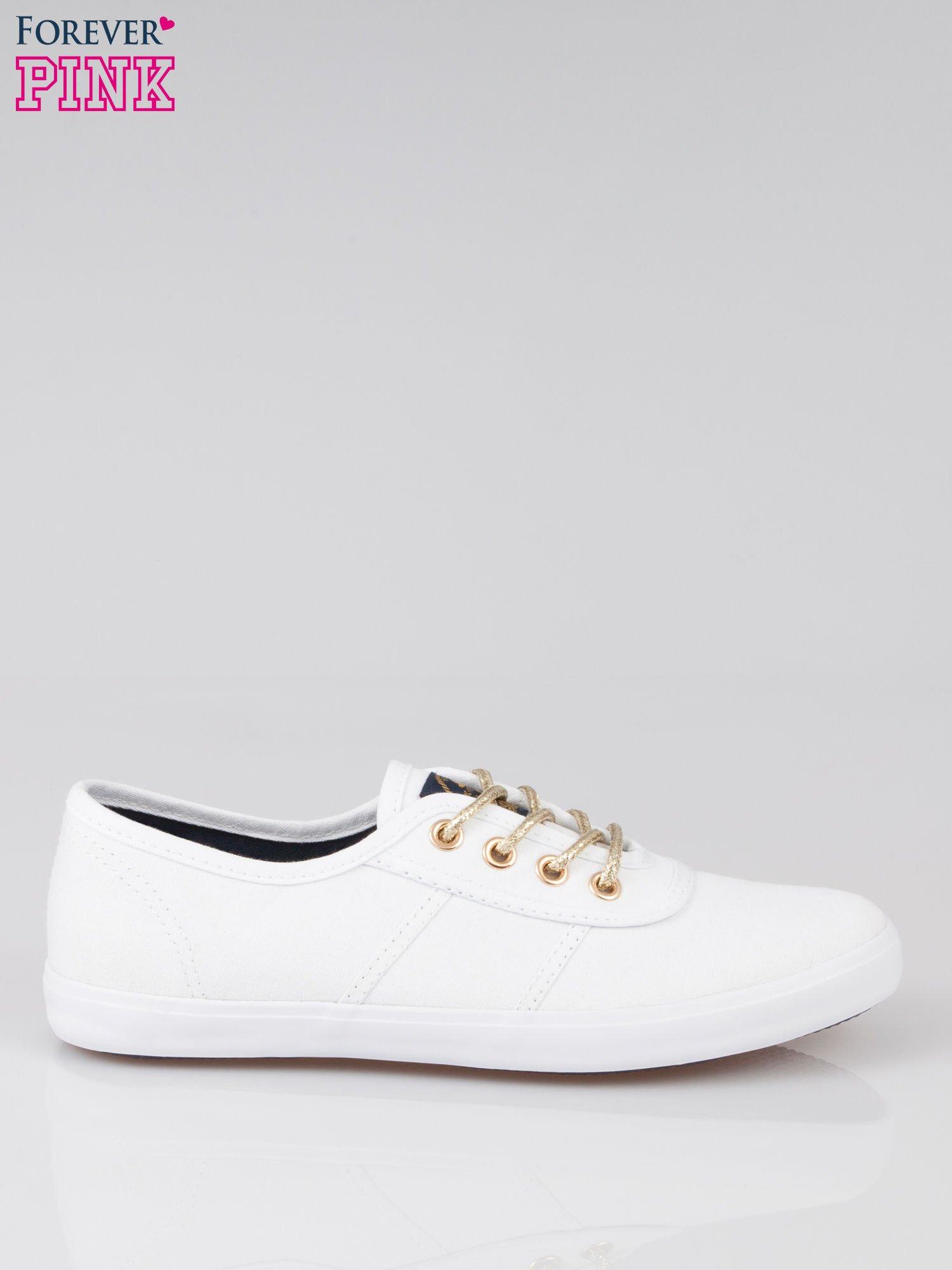 Białe tenisówki w stylu żeglarskim                                  zdj.                                  1