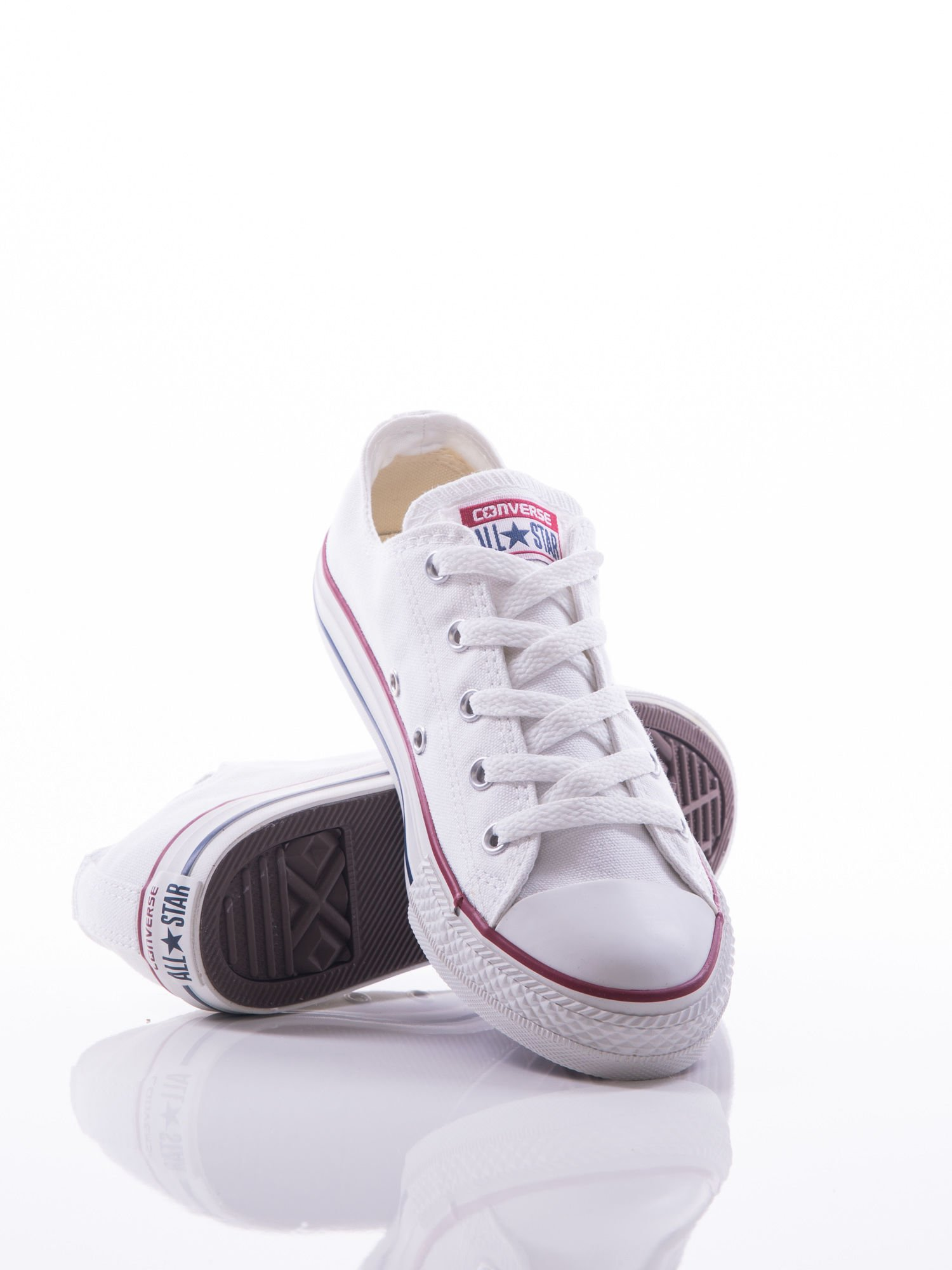 później moda designerska najniższa cena Białe trampki Converse