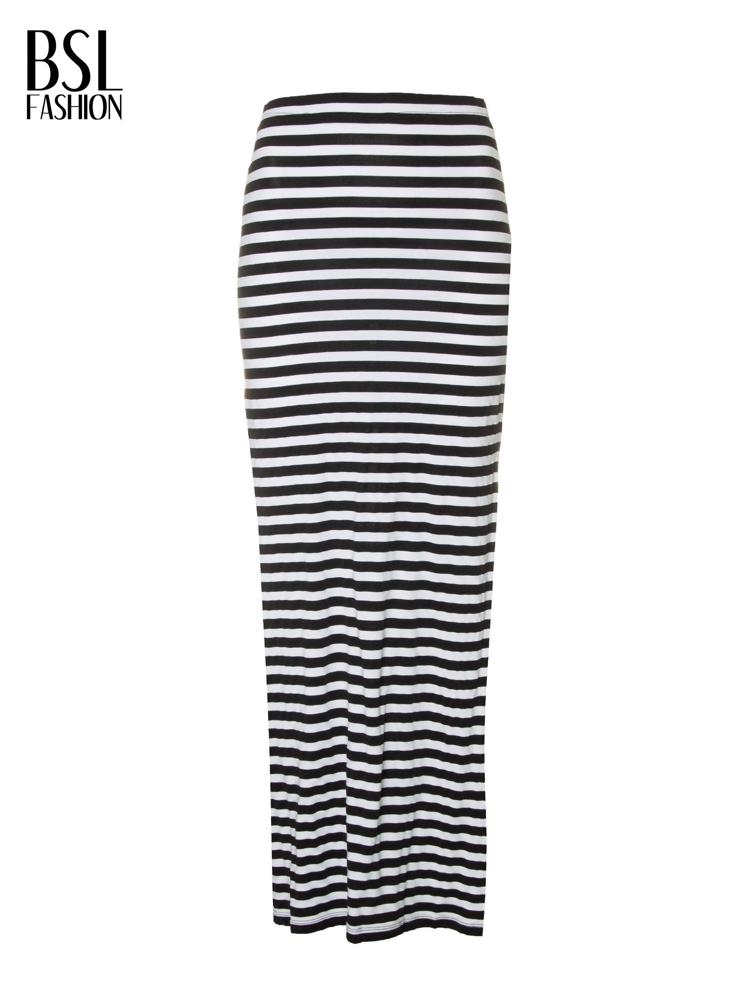 c1d8f2cf Biało-czarna spódnica maxi w paski