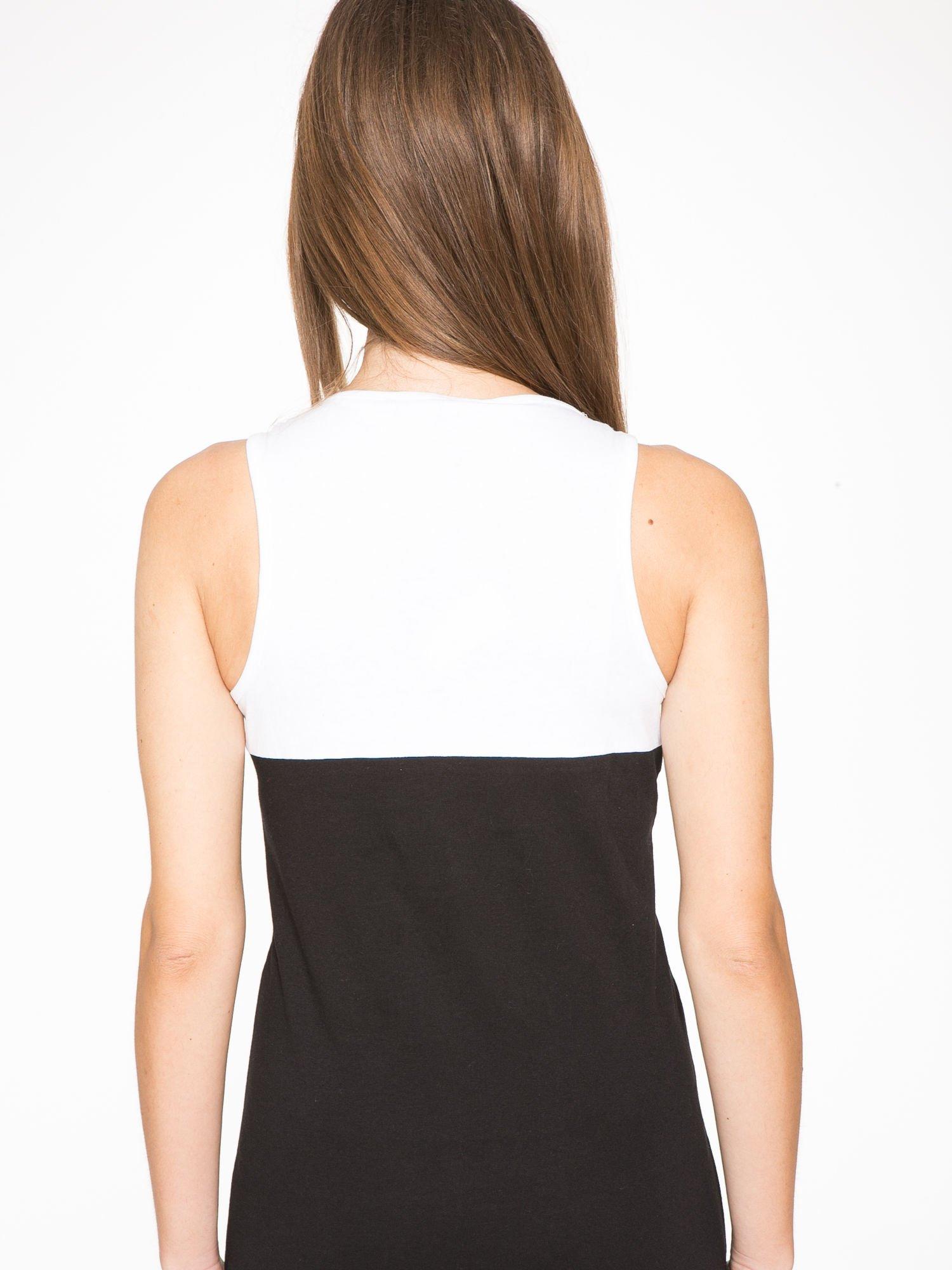 Biało-czarna sukienka maxi z numerem 92 w stylu baseball dress                                  zdj.                                  9
