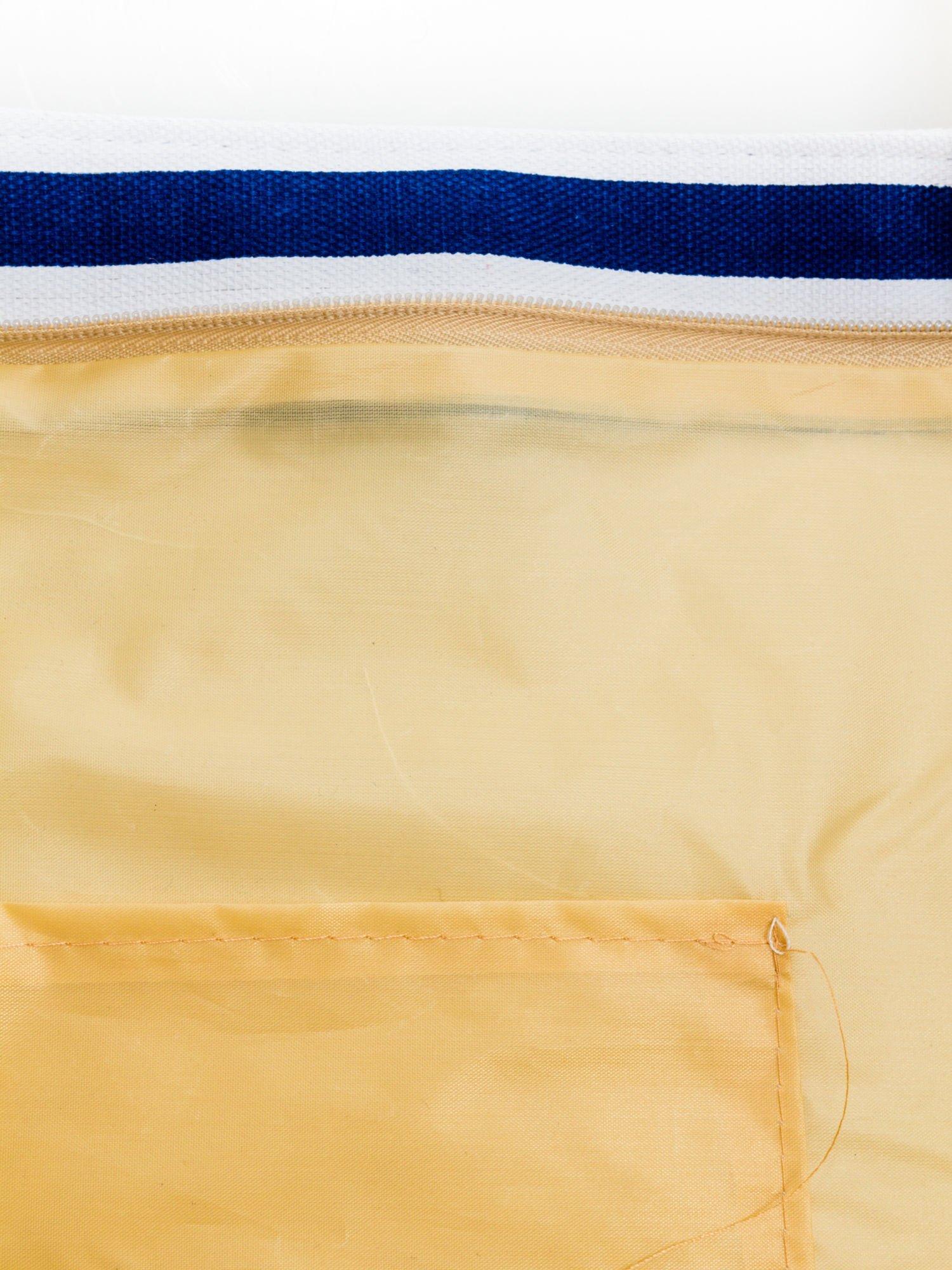Biało-granatowa torba plażowa w paski                                  zdj.                                  9