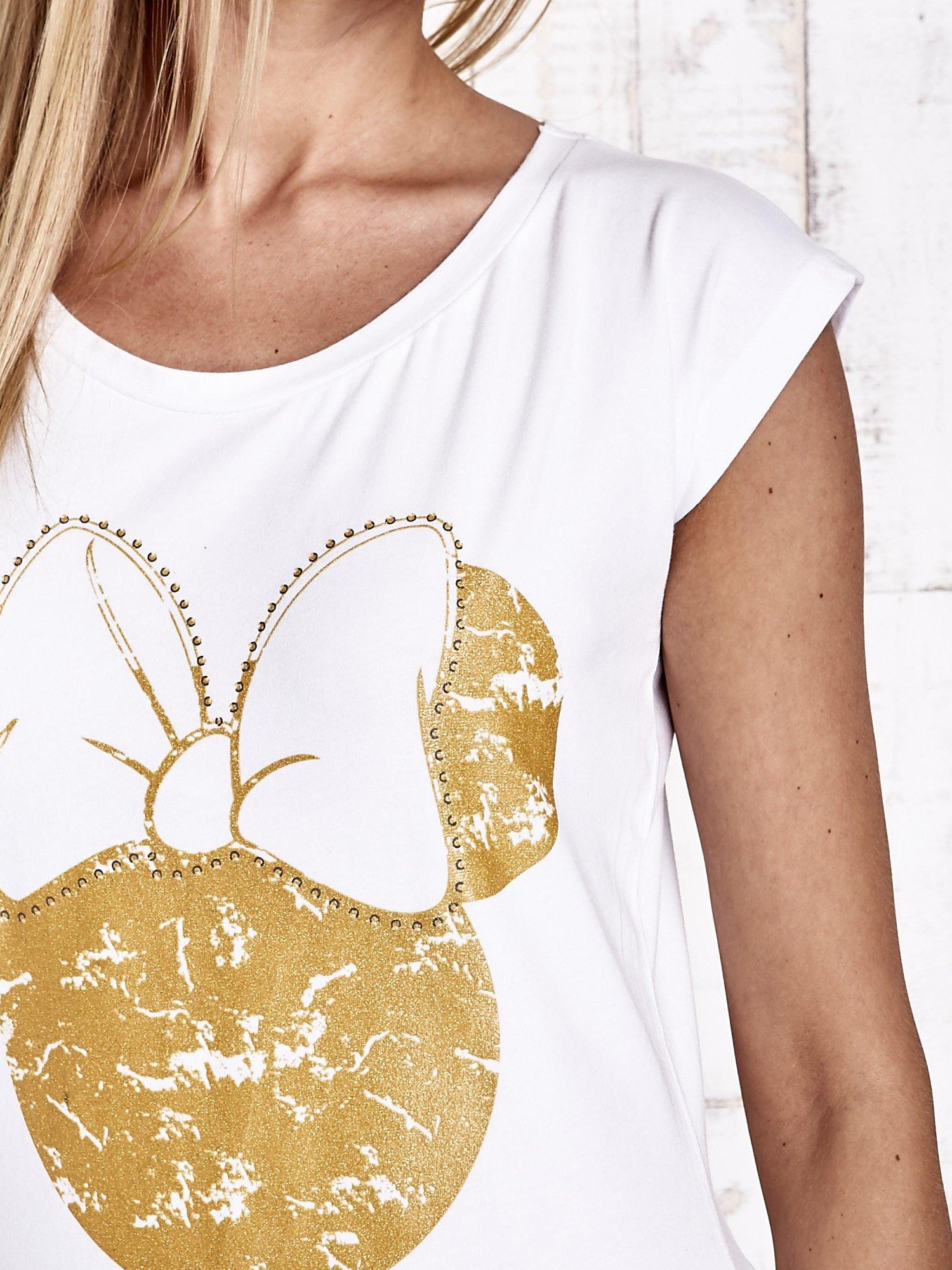 Biały t-shirt MINNIE MOUSE                                  zdj.                                  6