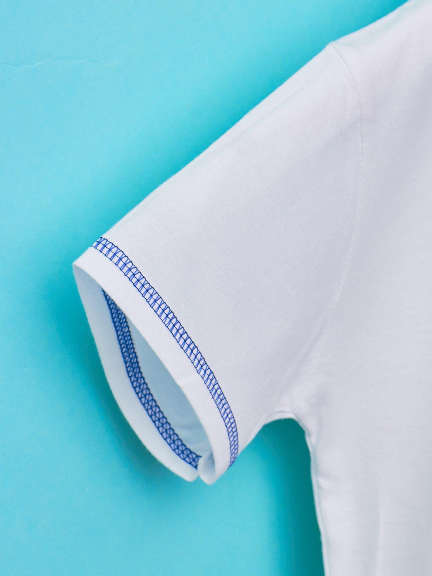 Biały t-shirt chłopięcy z nadrukiem szczeniaczka                                  zdj.                                  5