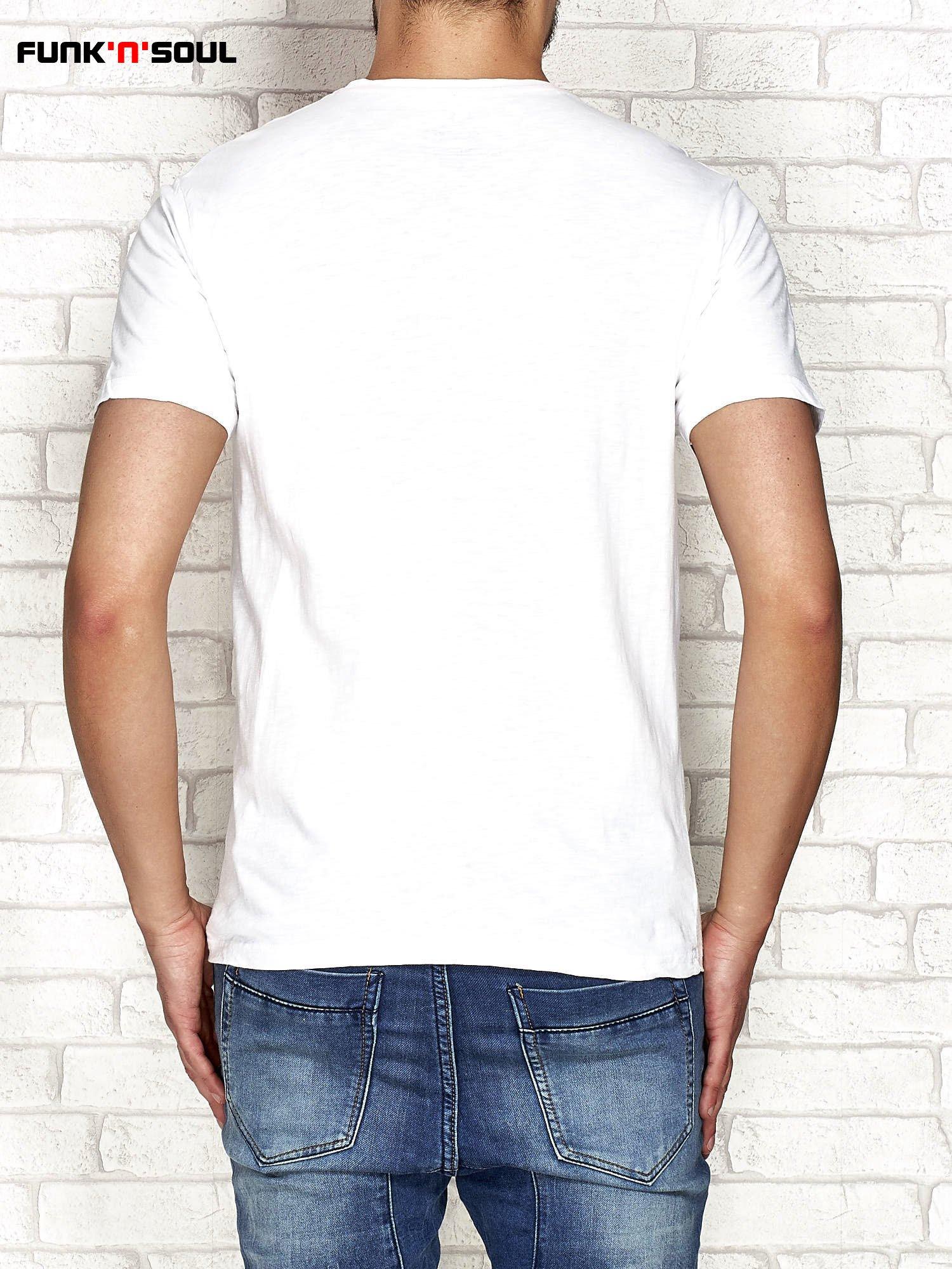 Granatowy t shirt męski z napisem LIVE Funk n Soul