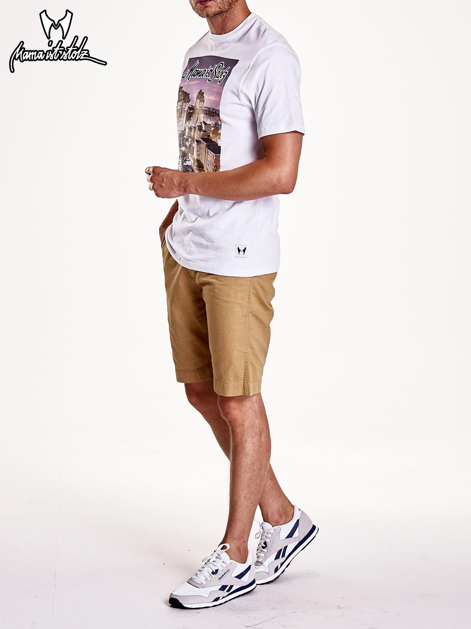 Biały t-shirt męski ze zdjęciem miasta                                  zdj.                                  8