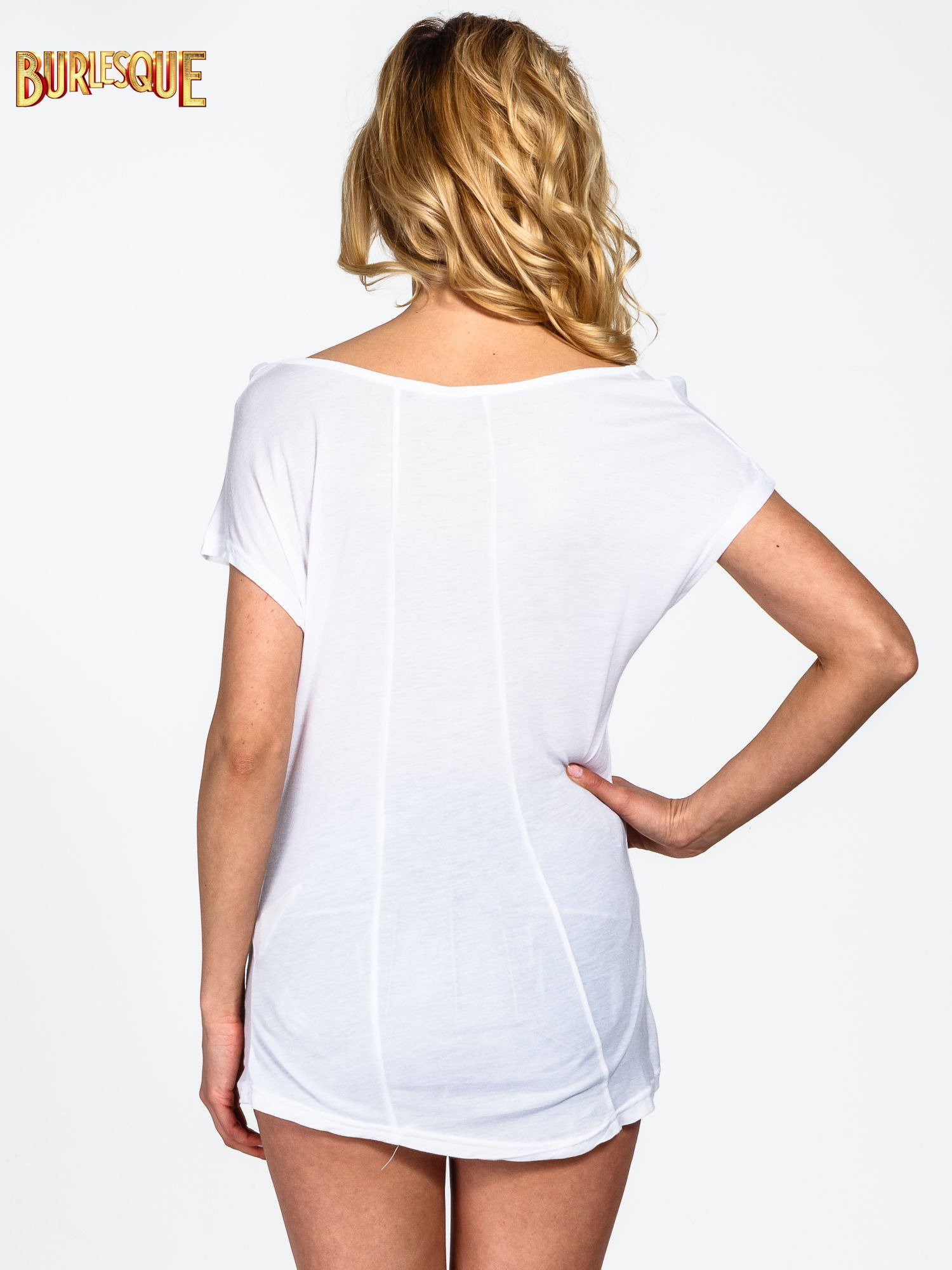 Biały t-shirt z motywem Paryża                                  zdj.                                  3