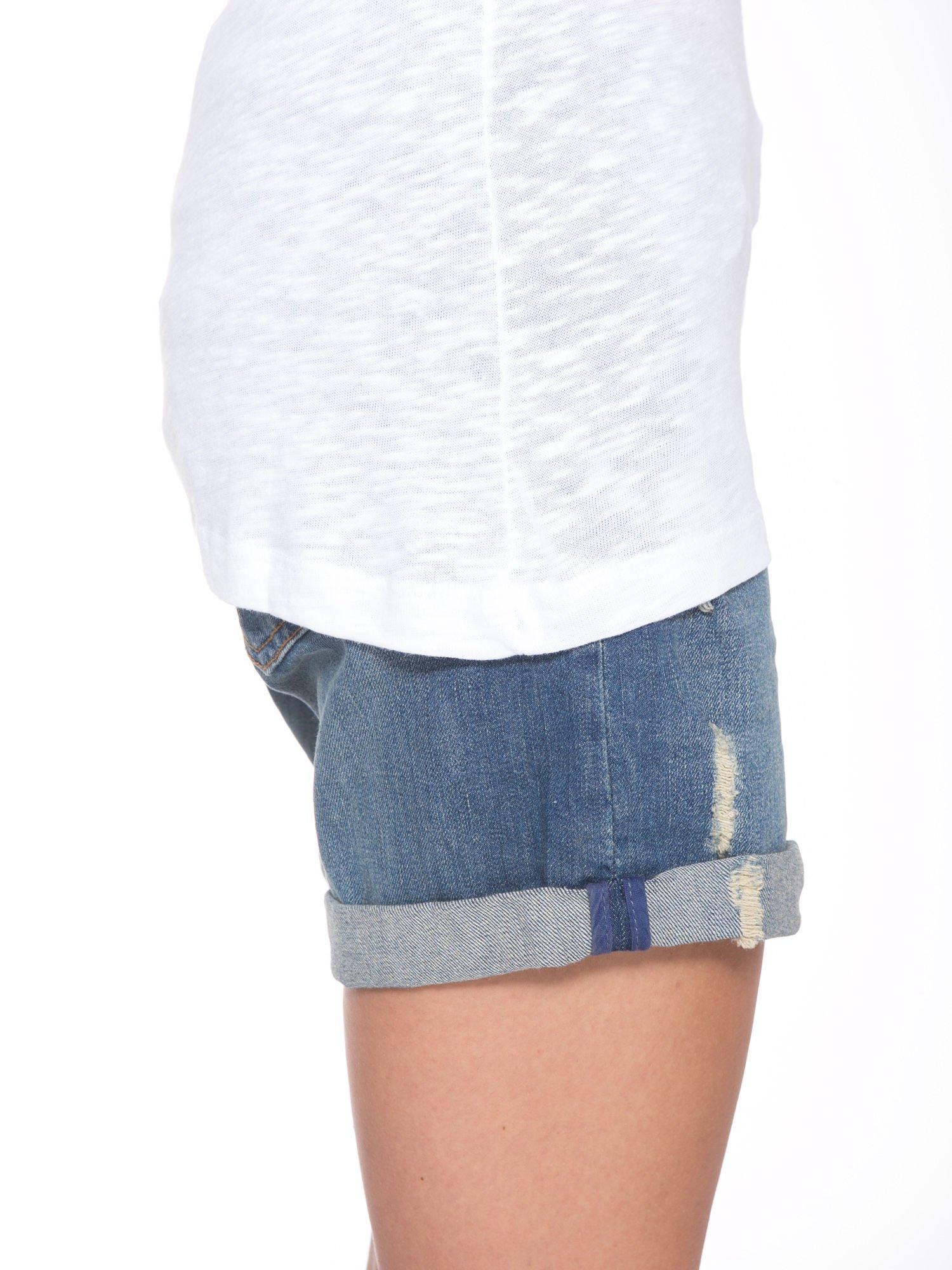 Biały t-shirt z nadrukiem NOPE                                  zdj.                                  8