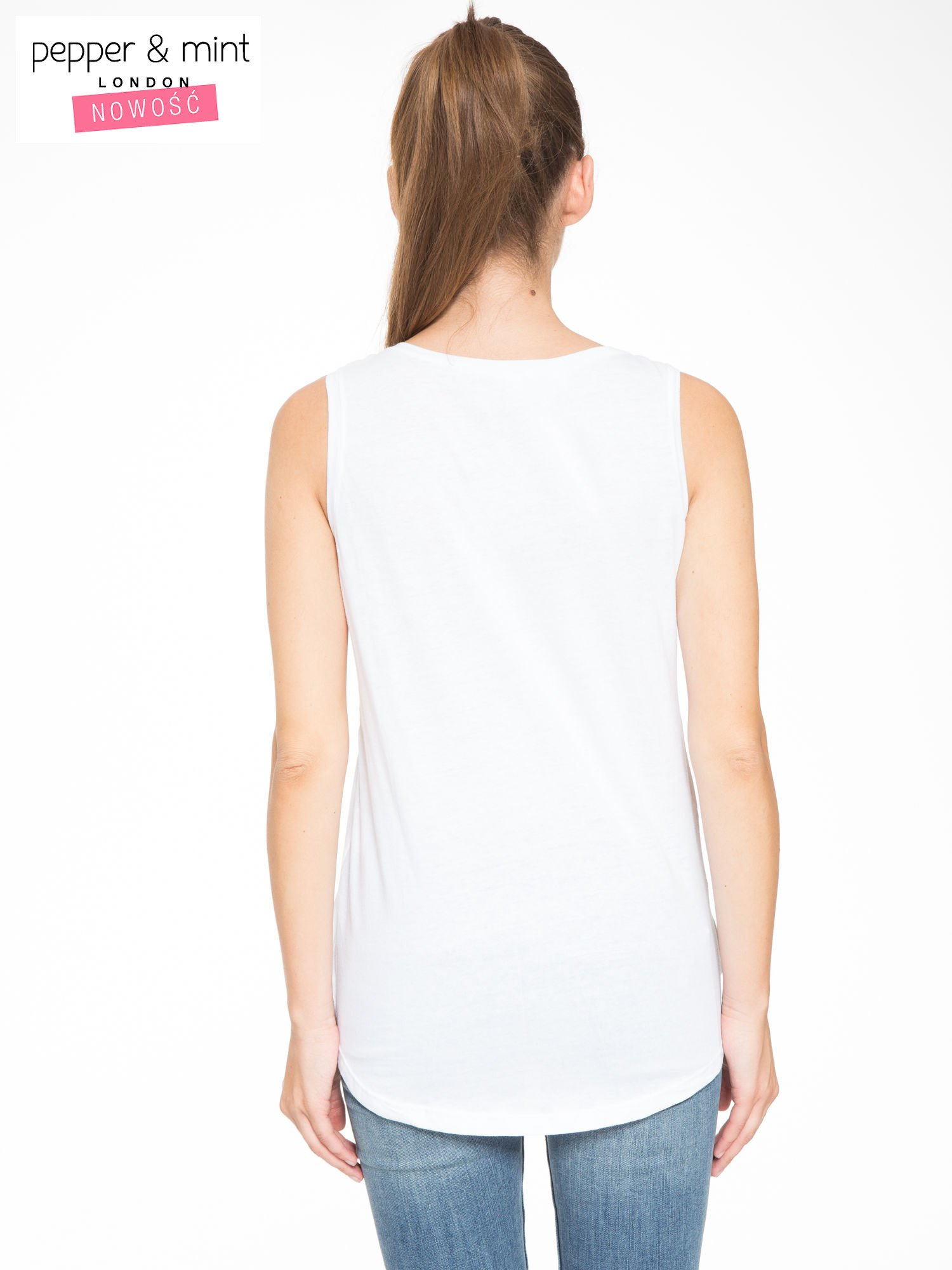 Biały t-shirt z nadrukiem balonów                                  zdj.                                  4