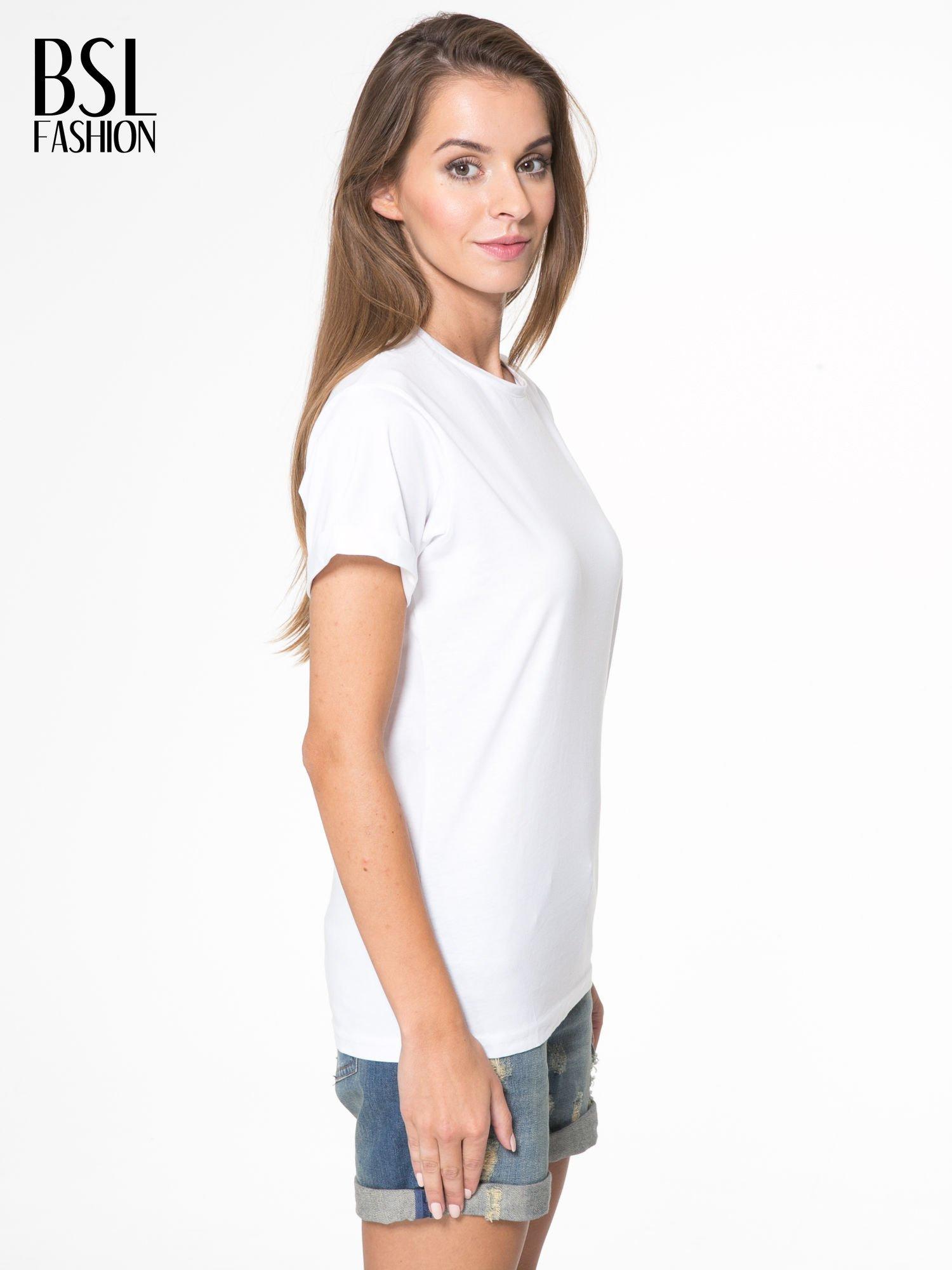 Biały t-shirt z napisem MARGIELA 47 na plecach                                  zdj.                                  4