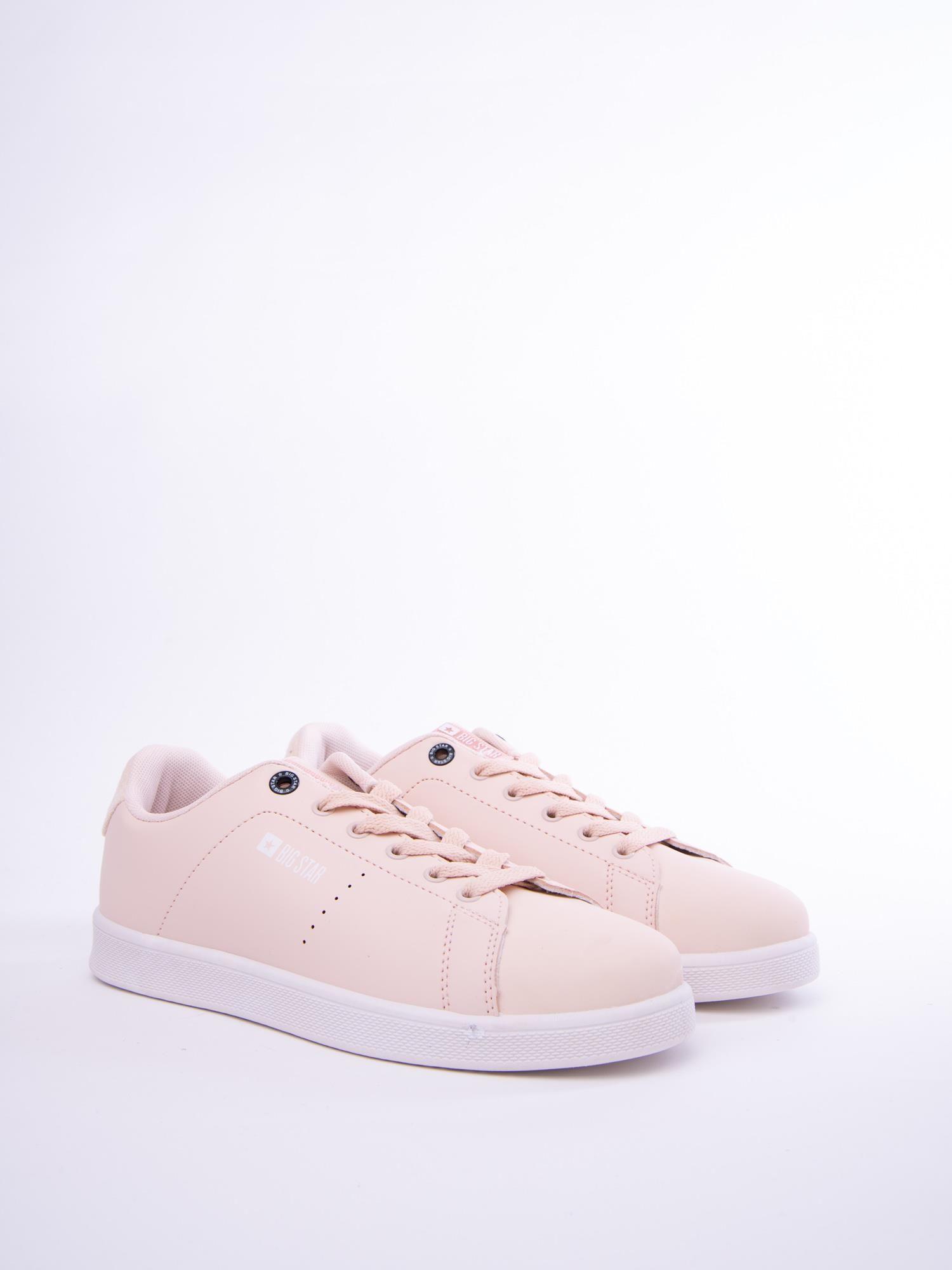 eea38f853444a Bladoróżowe gładkie buty sportowe BIG STAR z eco skóry - Buty ...