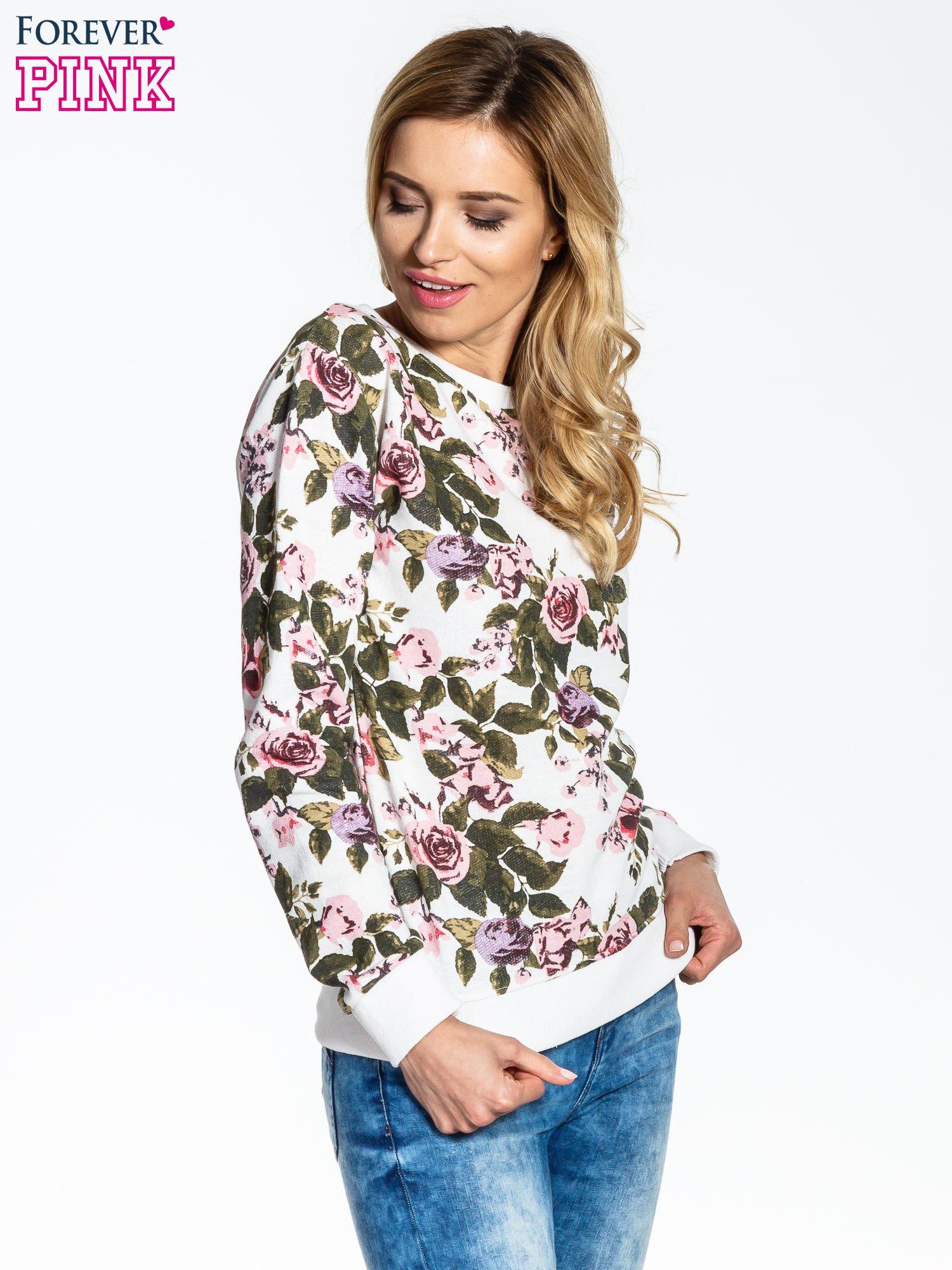 Bluza w kwiatowe wzory                                  zdj.                                  3