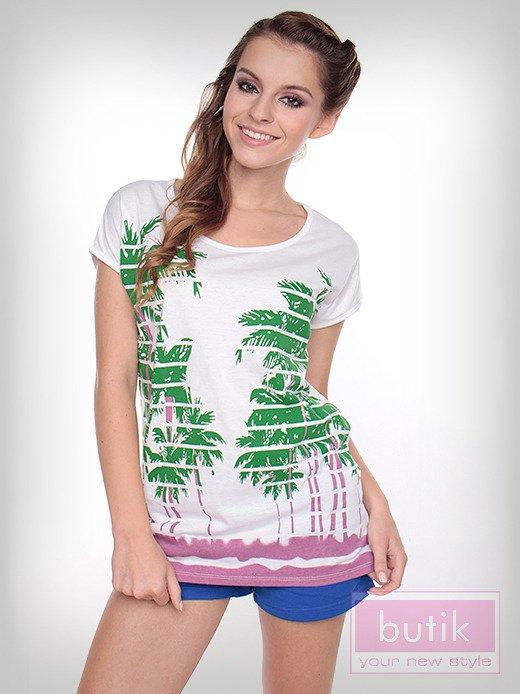 Bluzka palmy w paski                                  zdj.                                  2