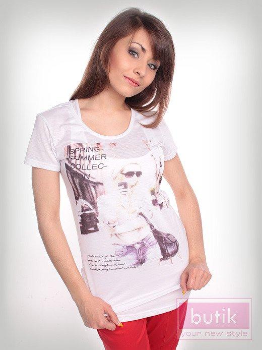 Bluzka z trendy nadrukiem                                  zdj.                                  2