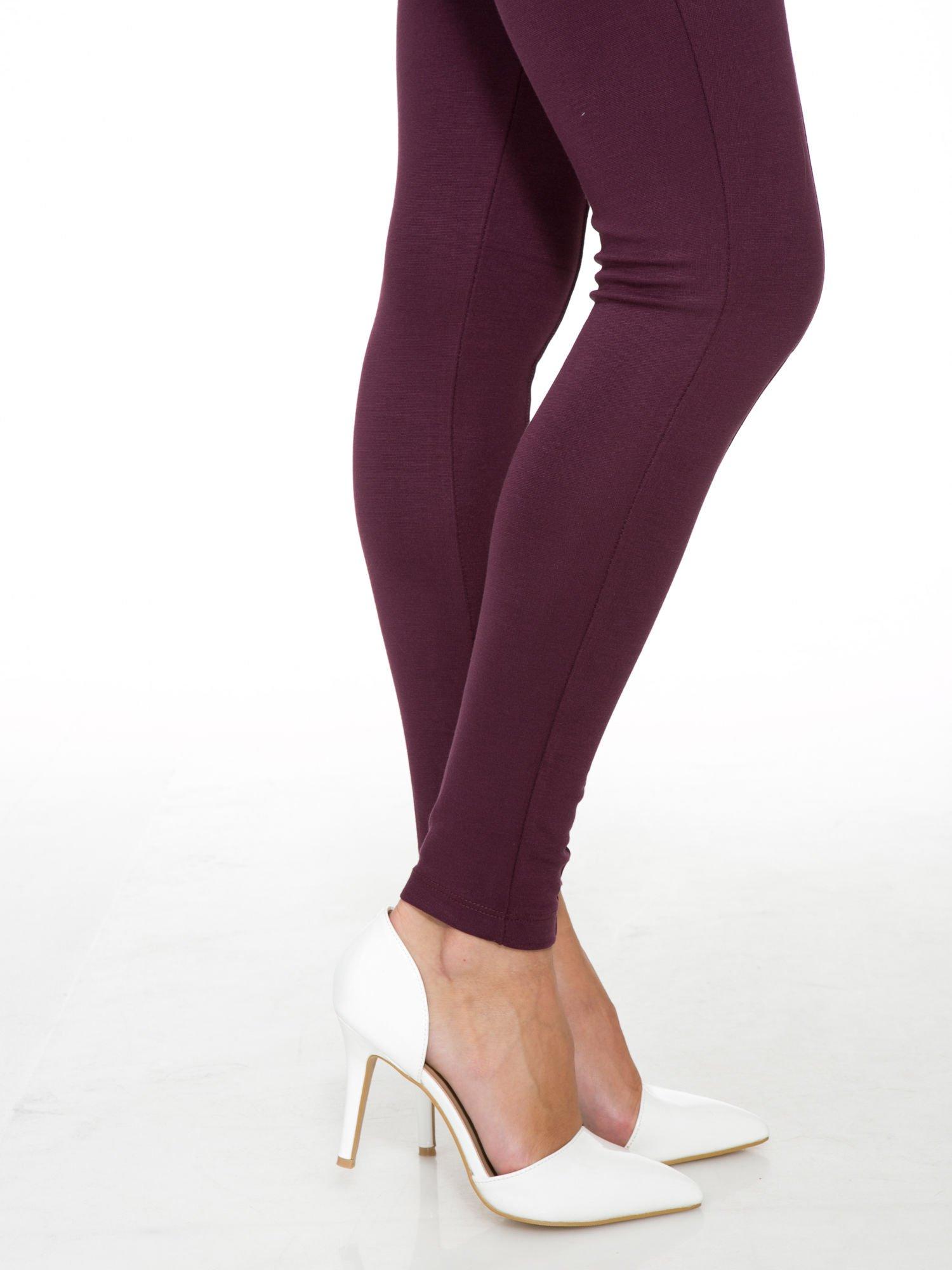 Borodowe modelujące legginsy z wysokim stanem i szwem wzdłuż nogawki                                  zdj.                                  9