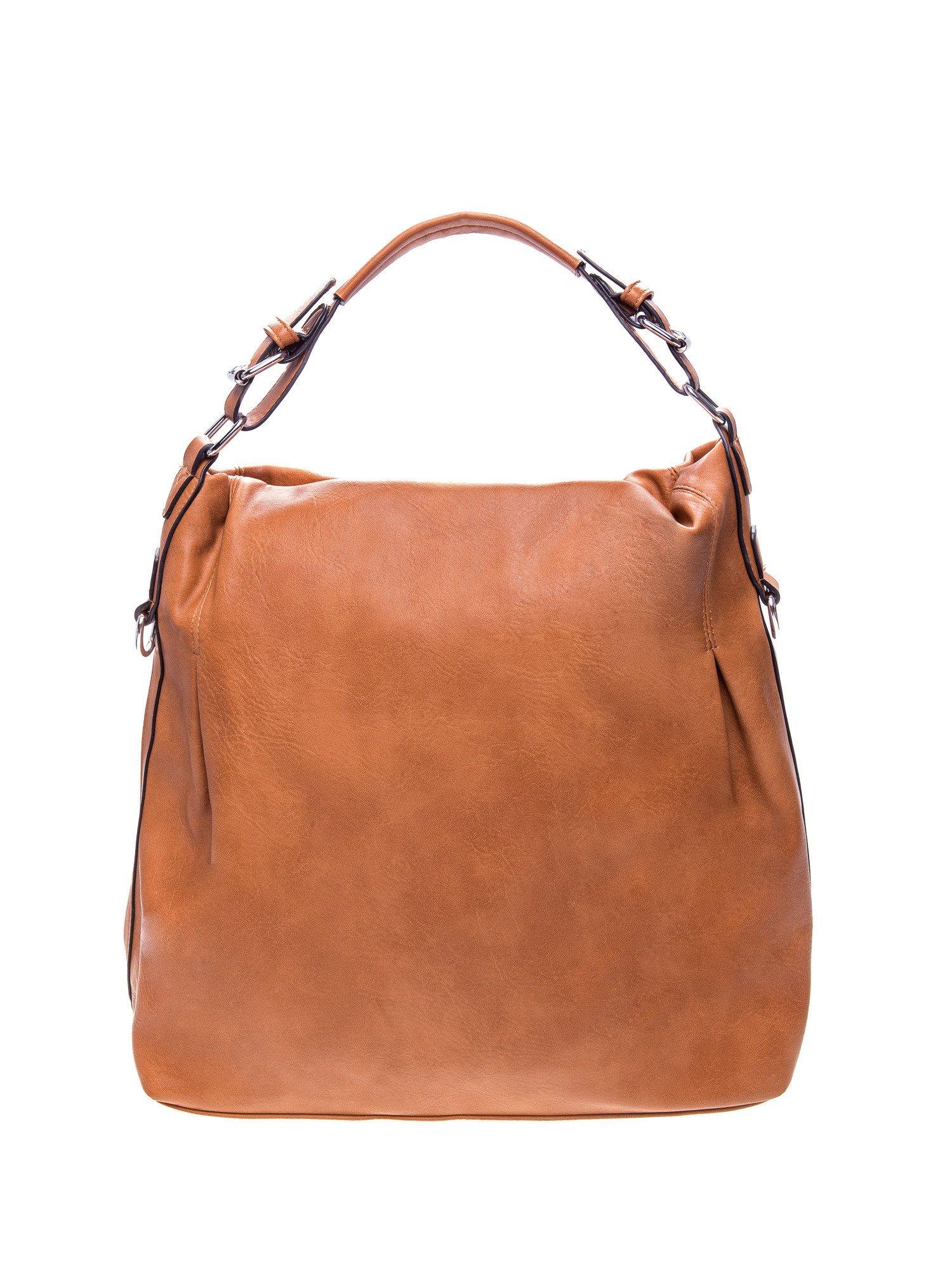 Brązowa torebka hobo na ramię                                  zdj.                                  1