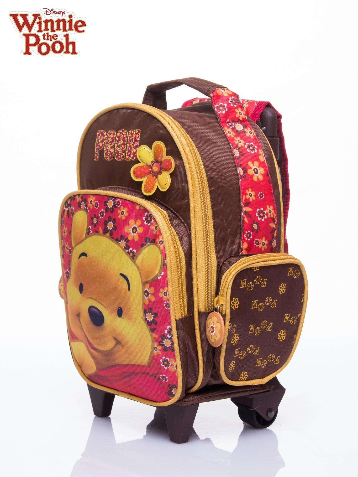 Brązowy plecak szkolny na kółkach walizka DISNEY Kubuś Puchatek                                  zdj.                                  2