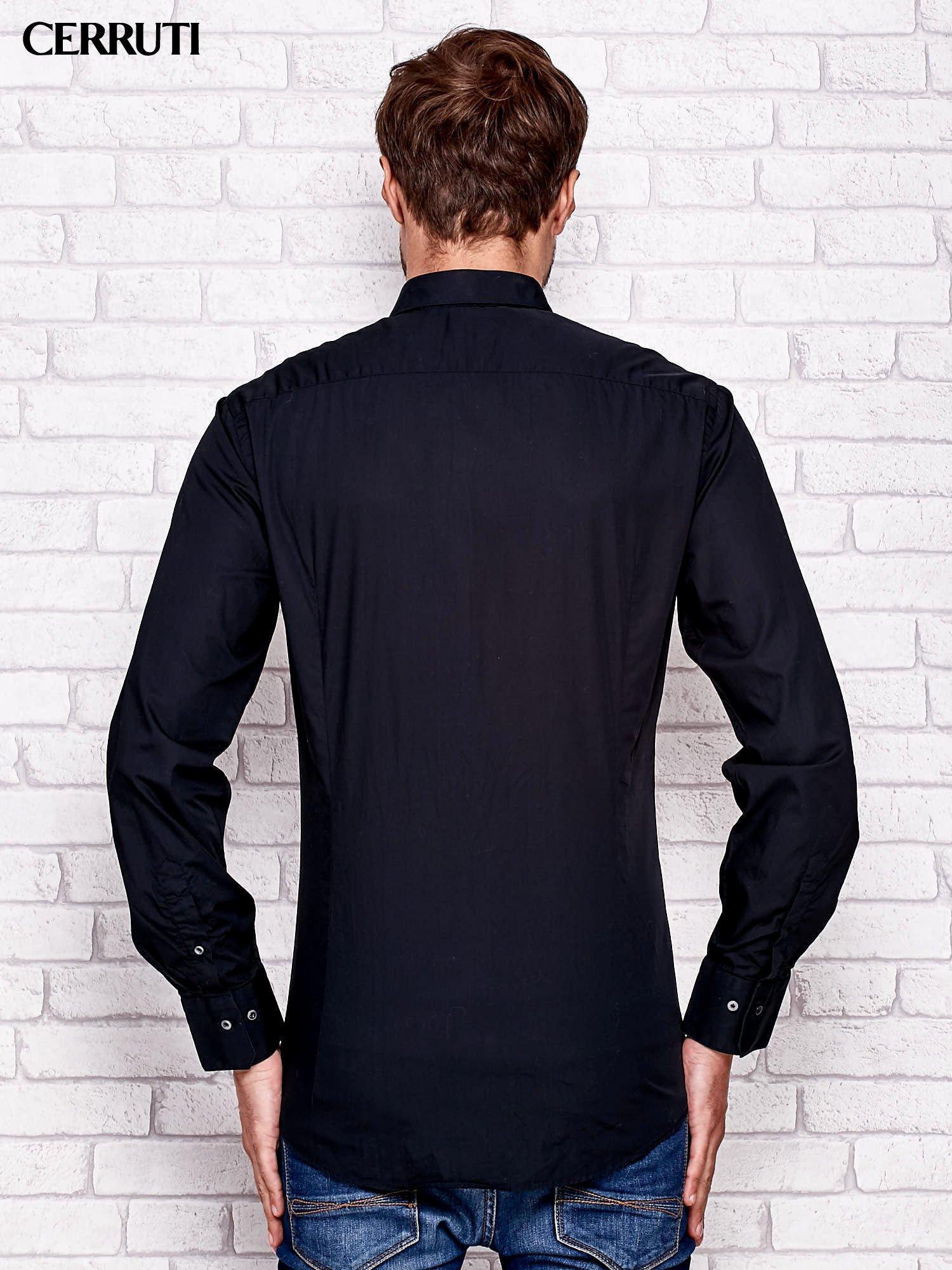 CERRUTI Czarna koszula męska Mężczyźni koszula męska  aXjLb