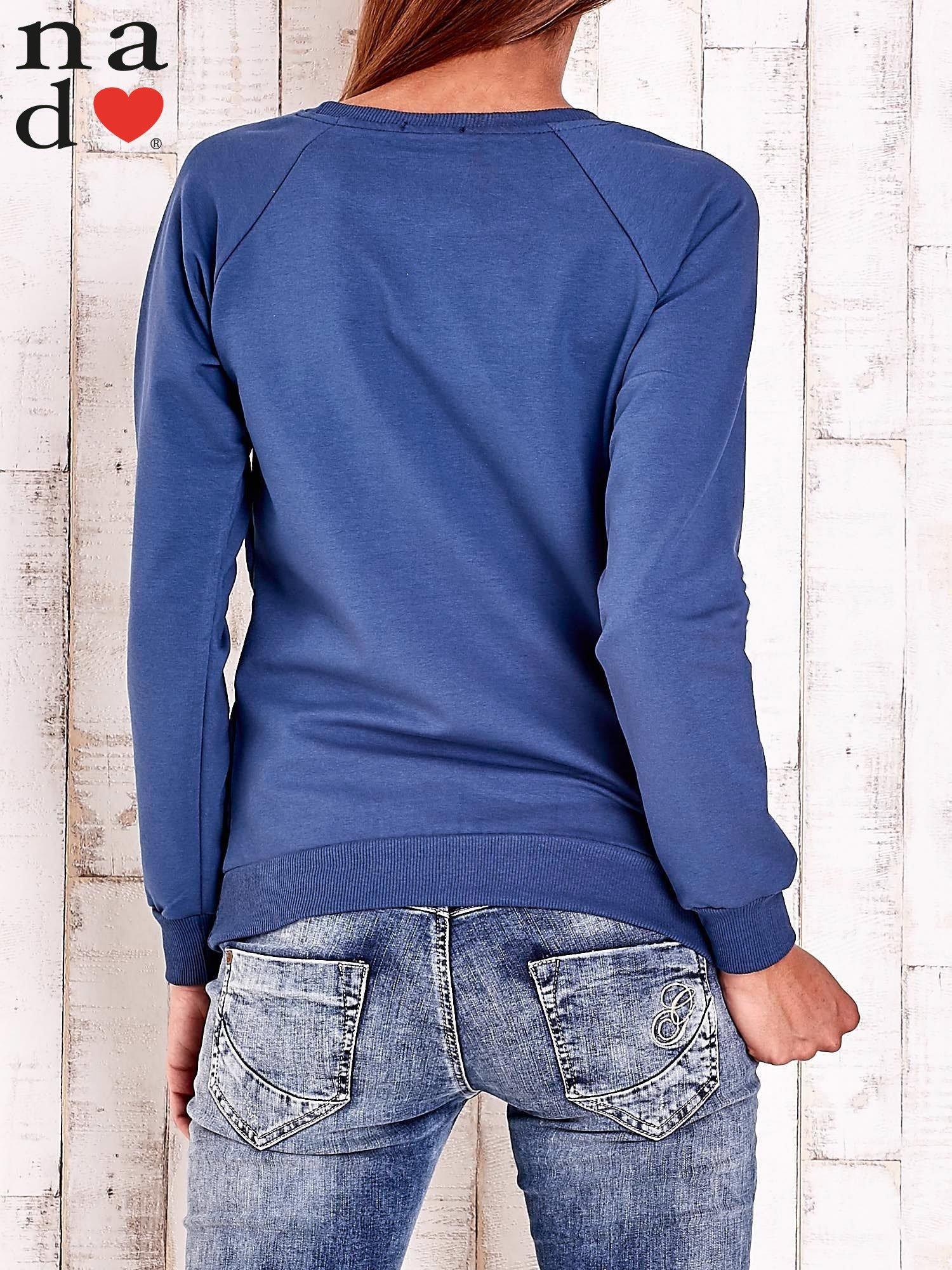 Ciemnoniebieska bluza z łapaczem snów                                  zdj.                                  4