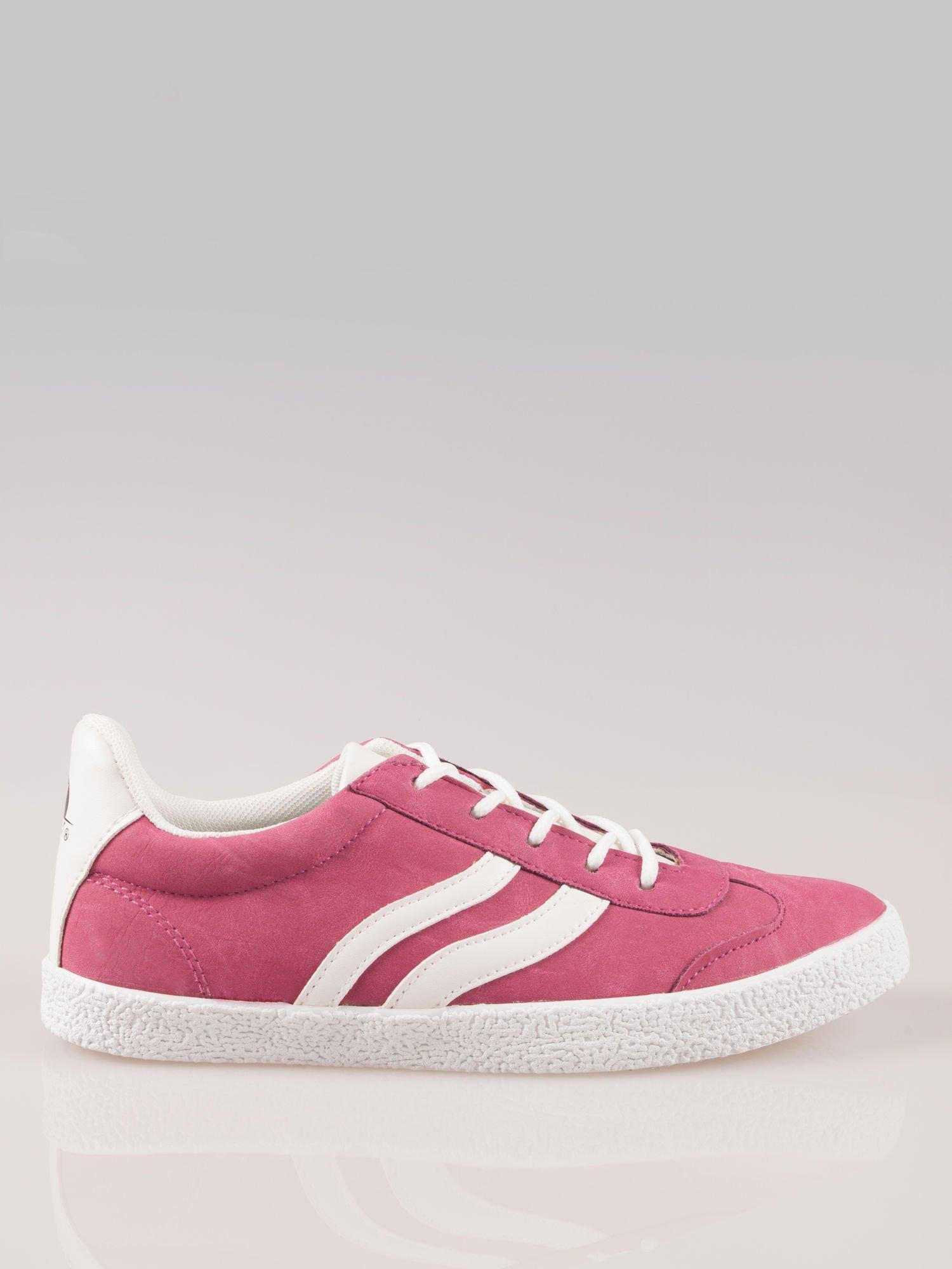 Ciemnoróżowe buty sportowe w stylu casual Kash                                  zdj.                                  1