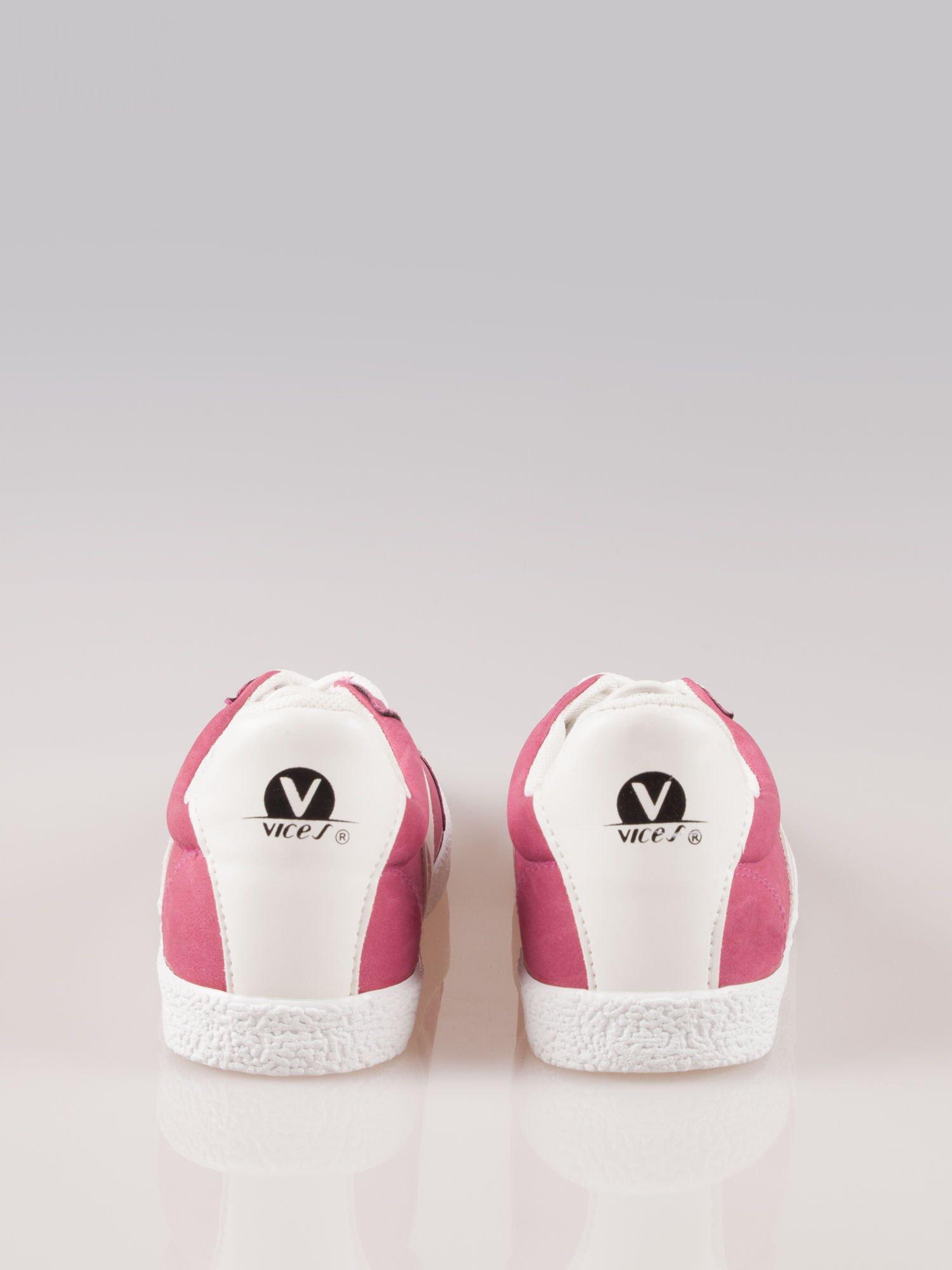 Ciemnoróżowe buty sportowe w stylu casual Kash                                  zdj.                                  3