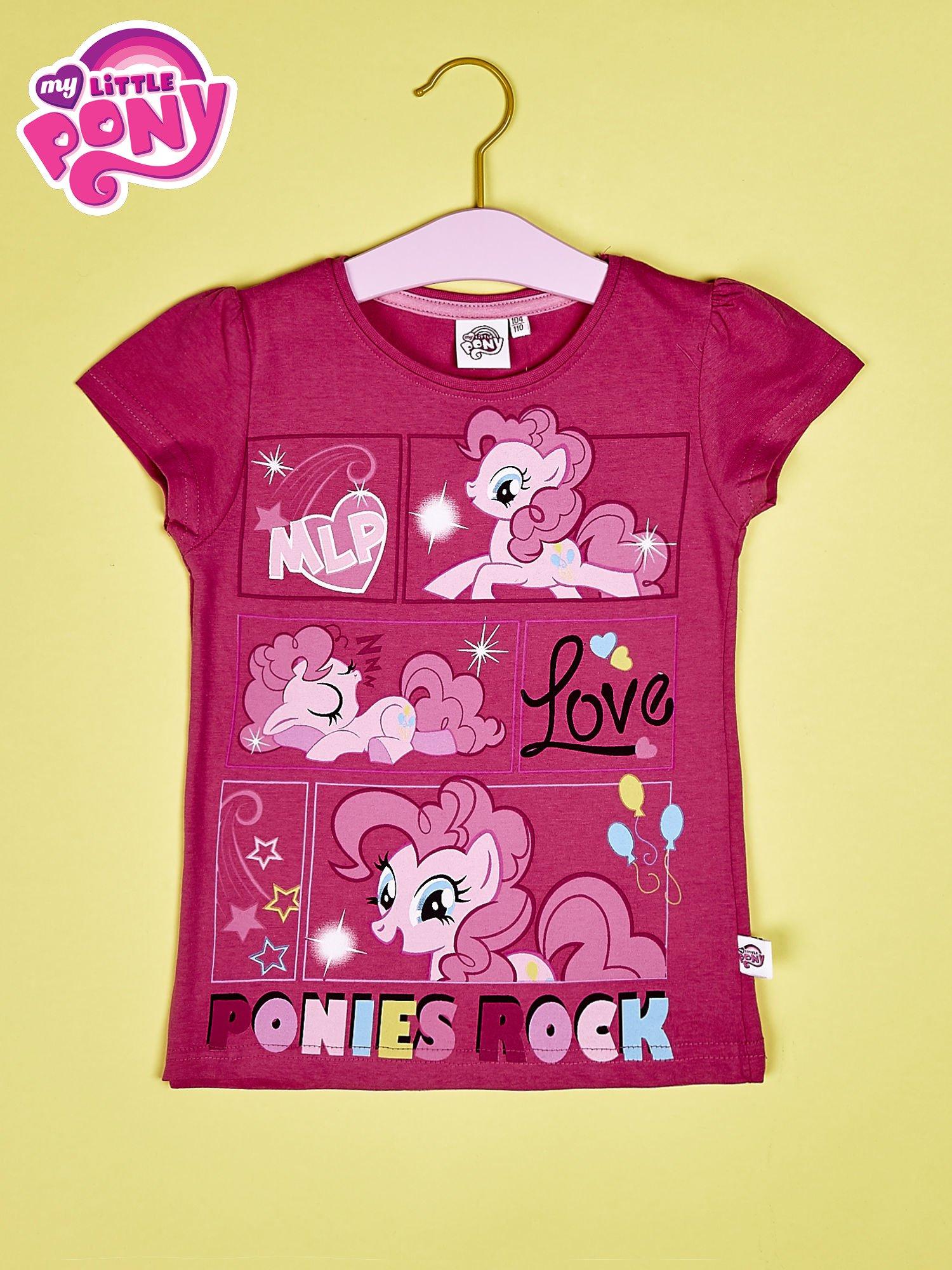 Ciemnoróżowy t-shirt dla dziewczynki MY LITTLE PONY                                  zdj.                                  1
