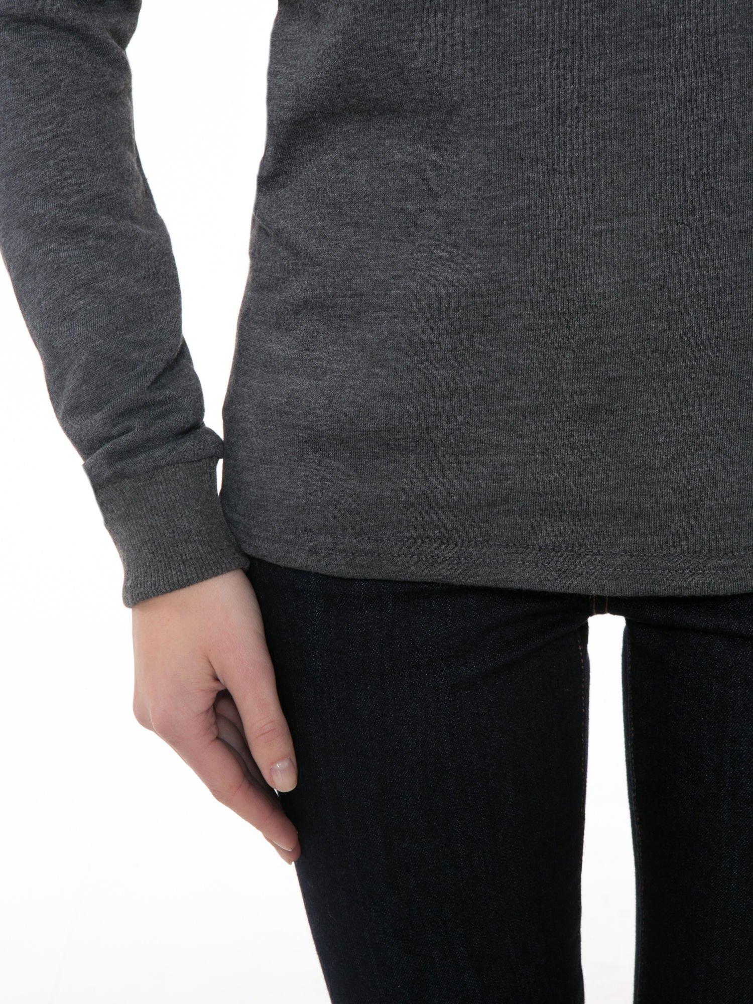 Ciemnoszara bluza z narukiem AIN'T LAURENT WITHOUT YVES                                  zdj.                                  6