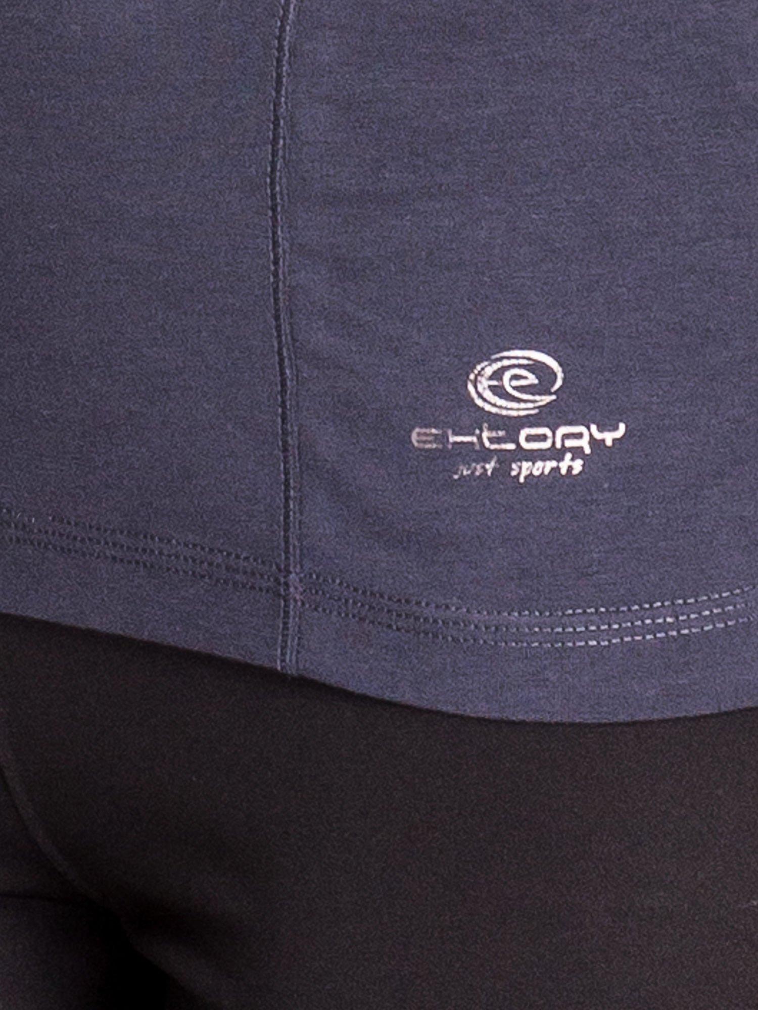 Ciemnoszara bluzka sportowa basic PLUS SIZE                                  zdj.                                  5
