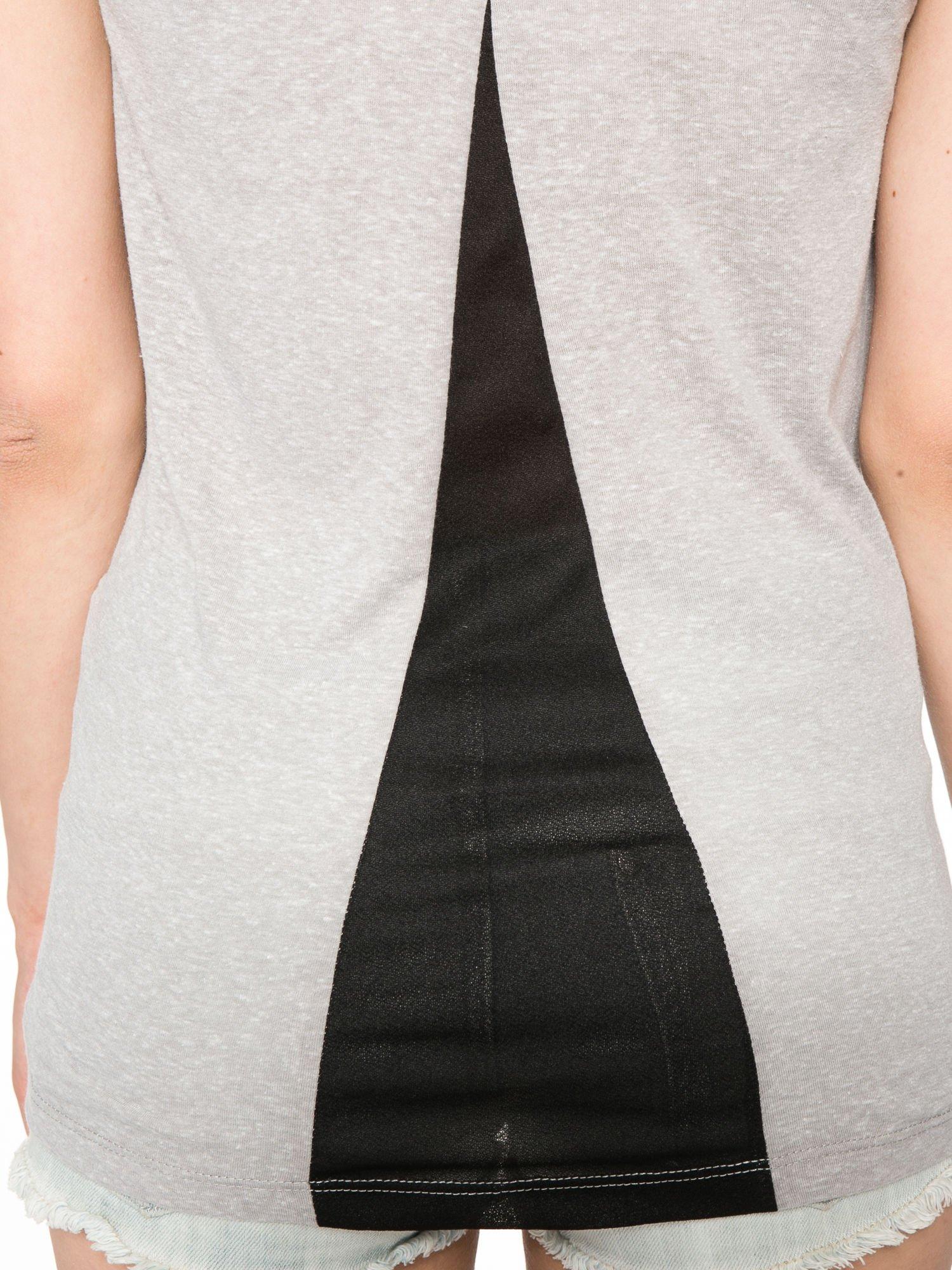 Ciemnoszary t-shirt z fotografiami miast                                  zdj.                                  11