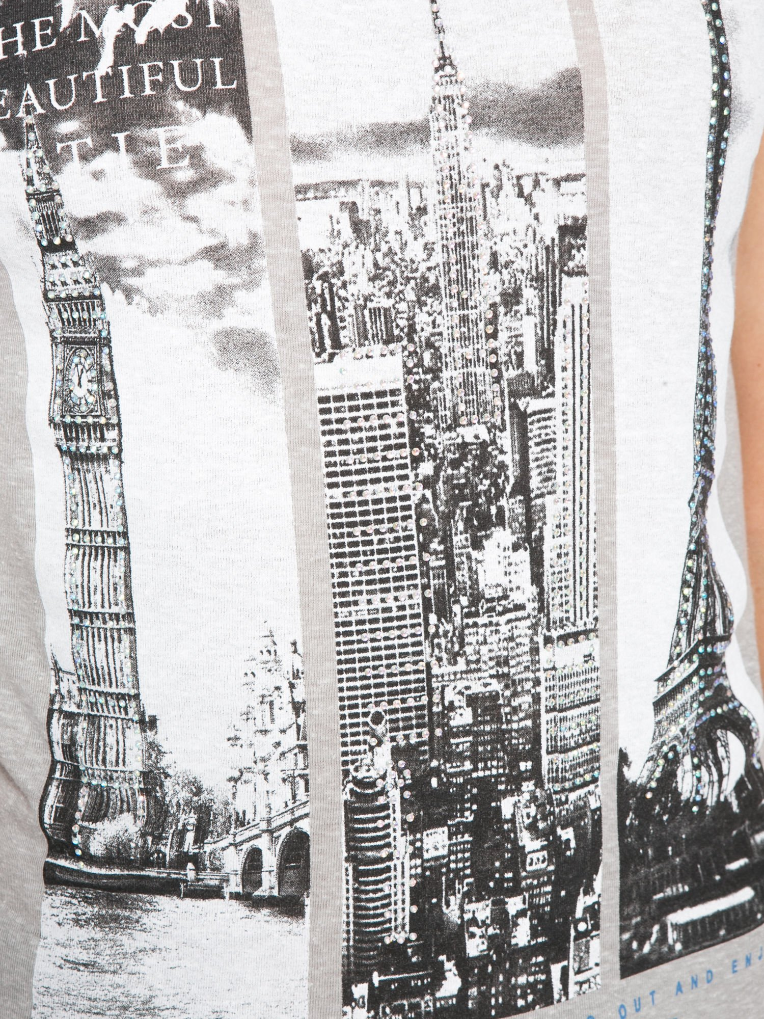 Ciemnoszary t-shirt z fotografiami miast                                  zdj.                                  8