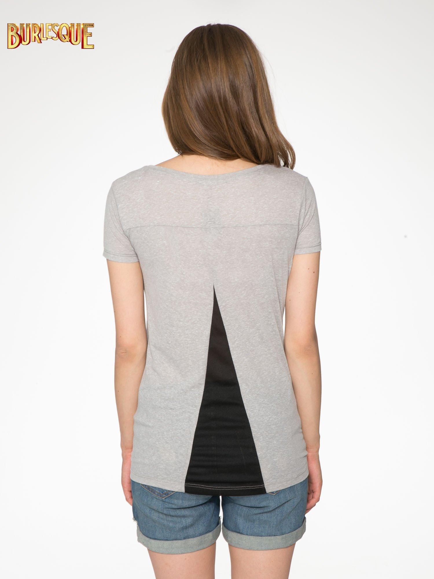 Ciemnoszary t-shirt z napisem SORRY I'M SUPER FRESH z dżetami                                  zdj.                                  9
