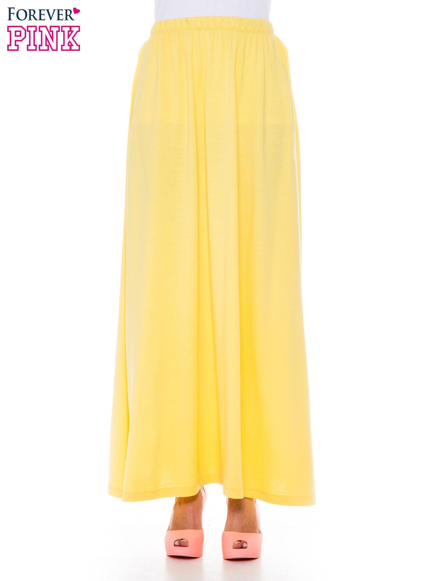 Ciemnożółta zwiewna spódnica maxi                                  zdj.                                  1