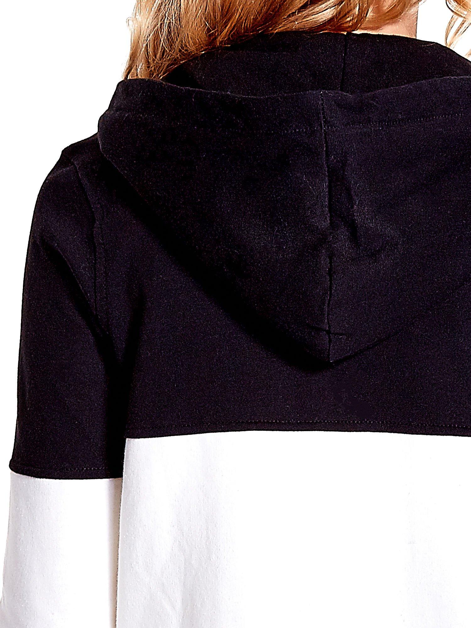 Czarna bluza w szerokie kolorowe pasy                                  zdj.                                  7
