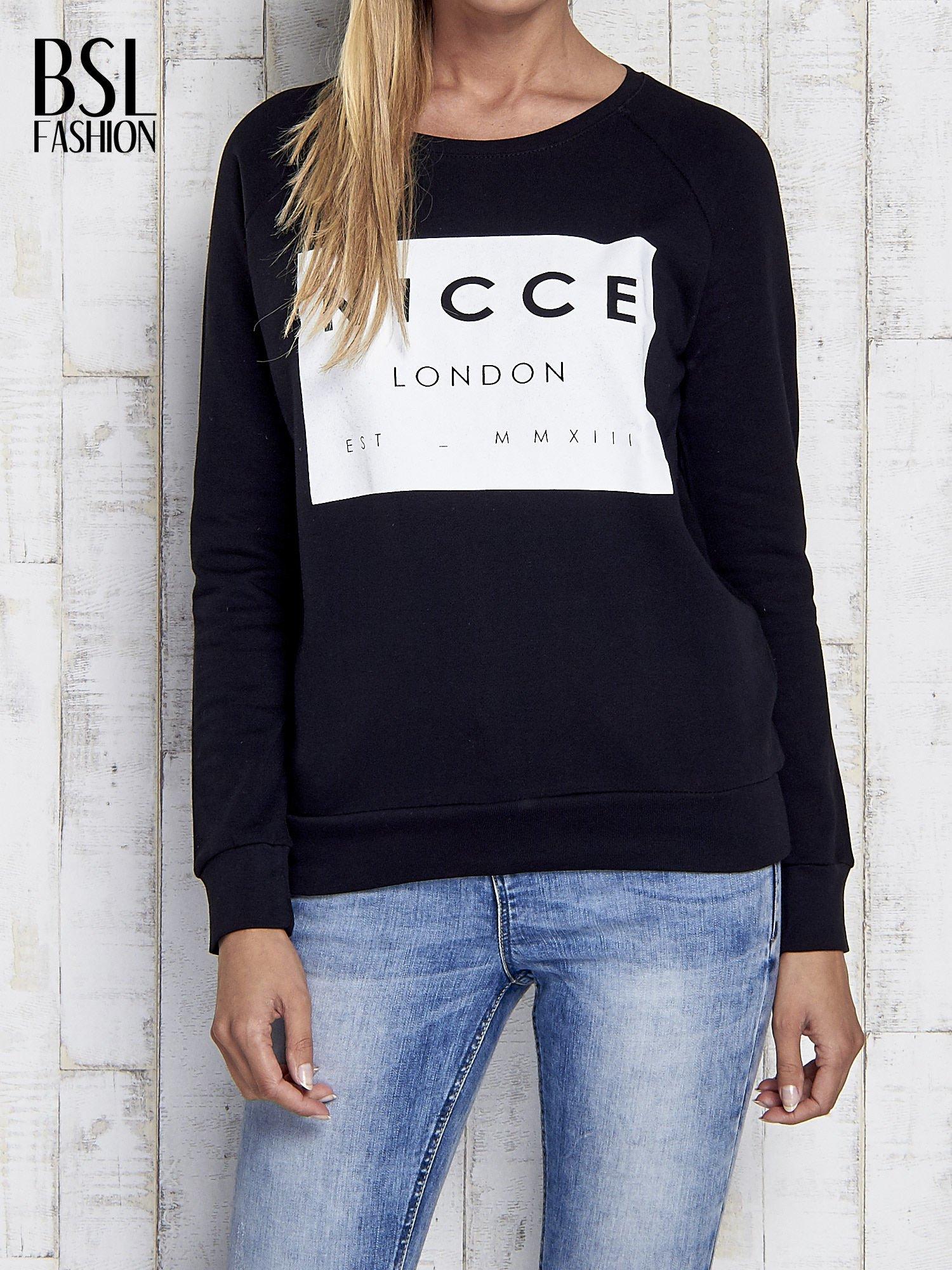 Czarna bluza z napisem NICCE LONDON                                  zdj.                                  1