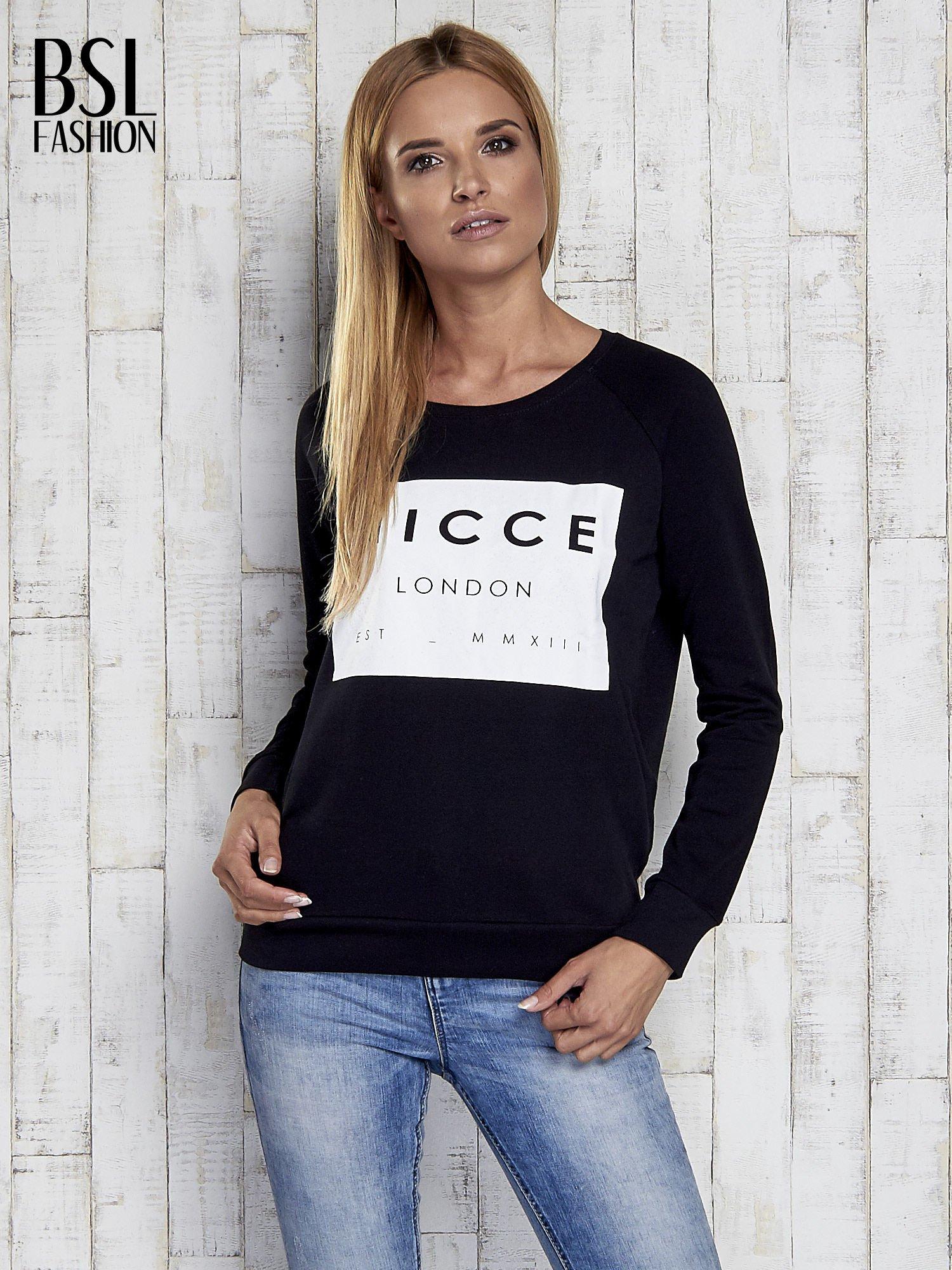 Czarna bluza z napisem NICCE LONDON                                  zdj.                                  5