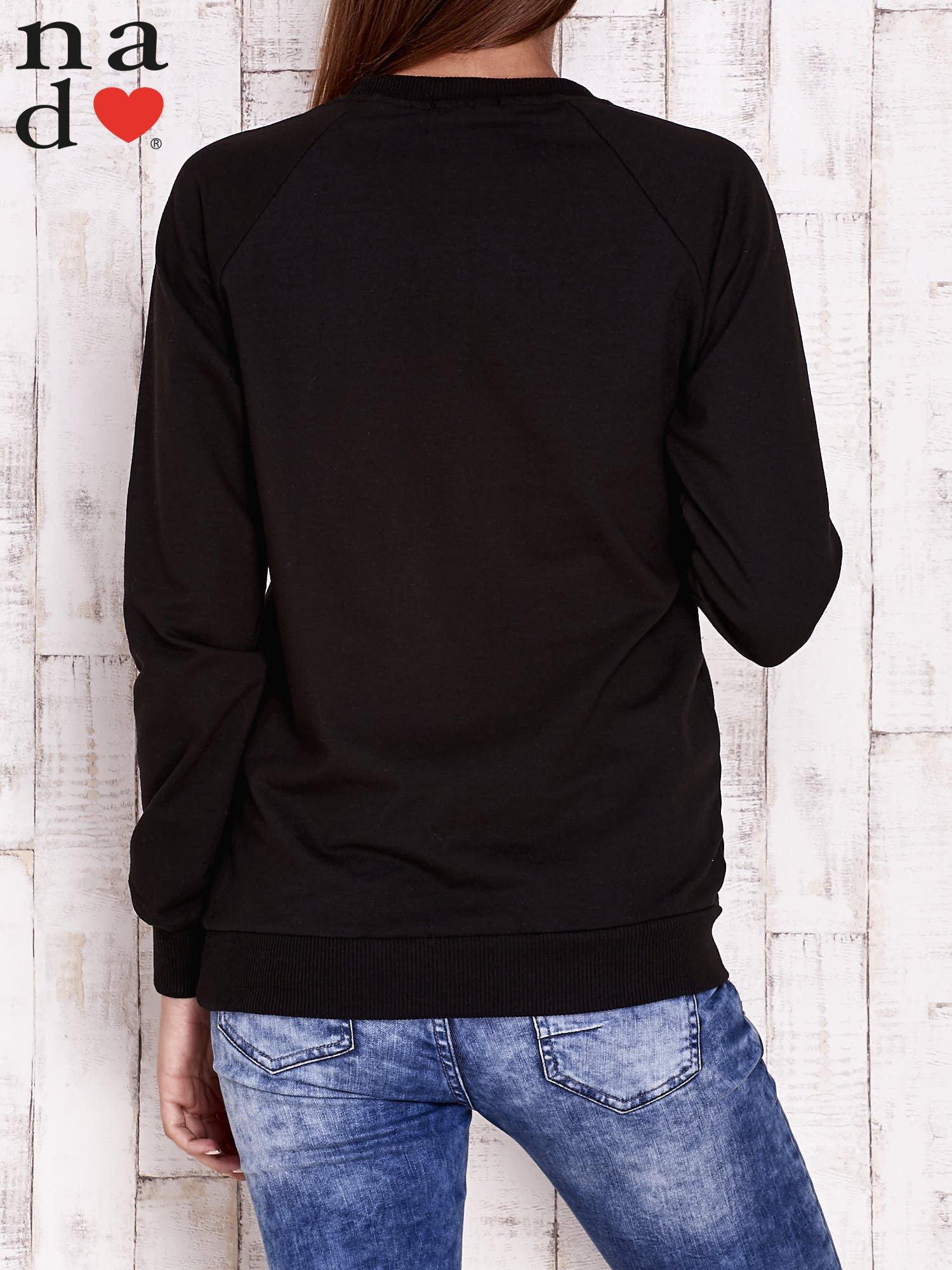 Czarna bluza z napisem PARADISE                                  zdj.                                  5