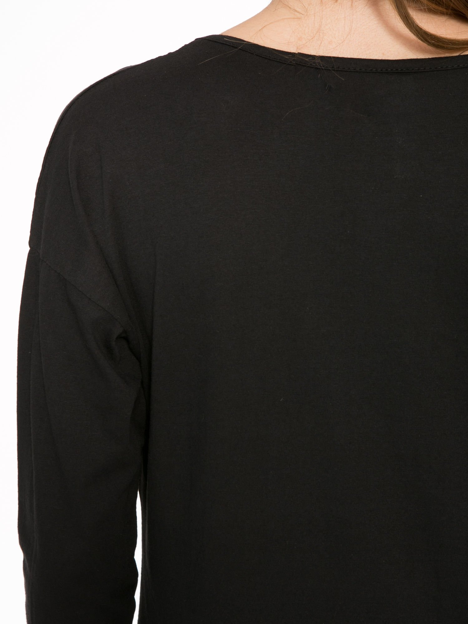 Czarna bluzka z nadrukiem Marylin Monroe                                  zdj.                                  9